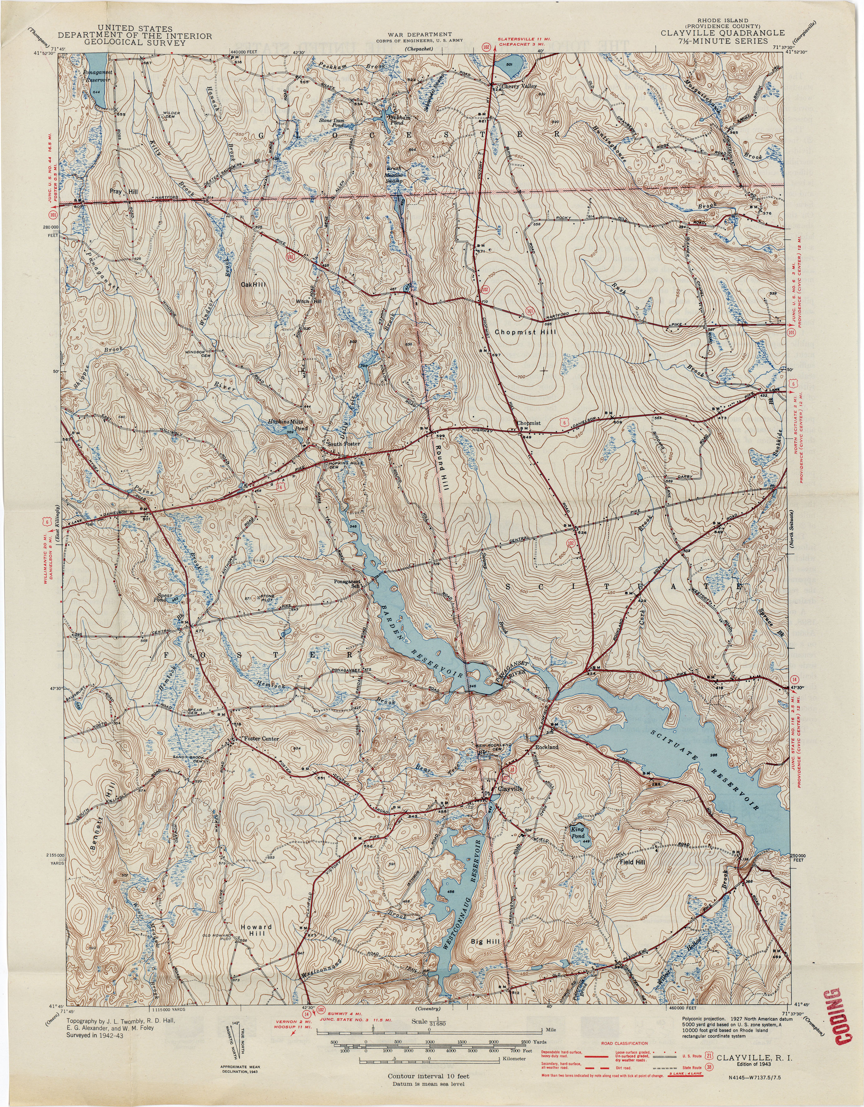 rhode island historical topographic maps