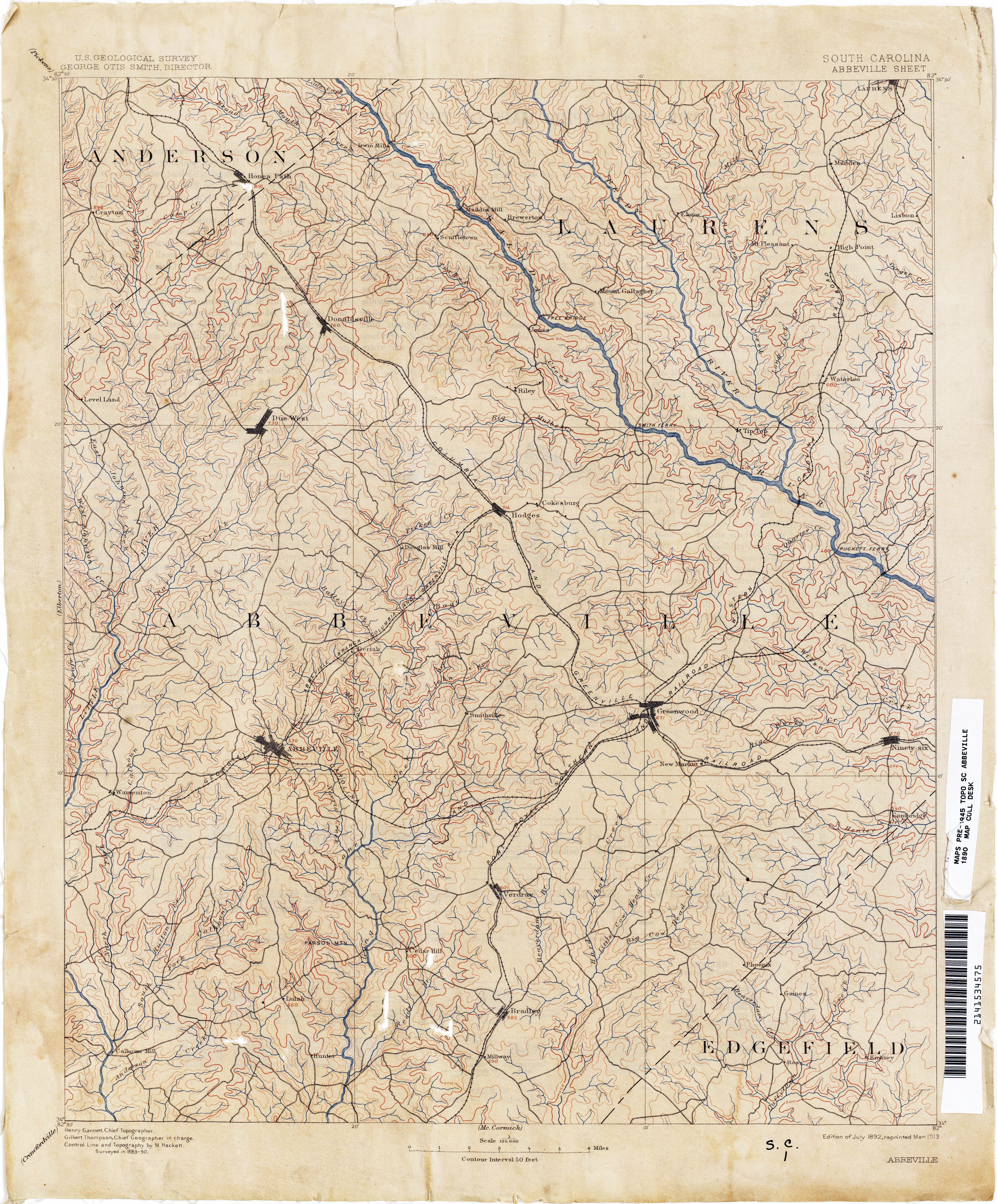 south carolina topographic map index 1926 6 2mb abbeville