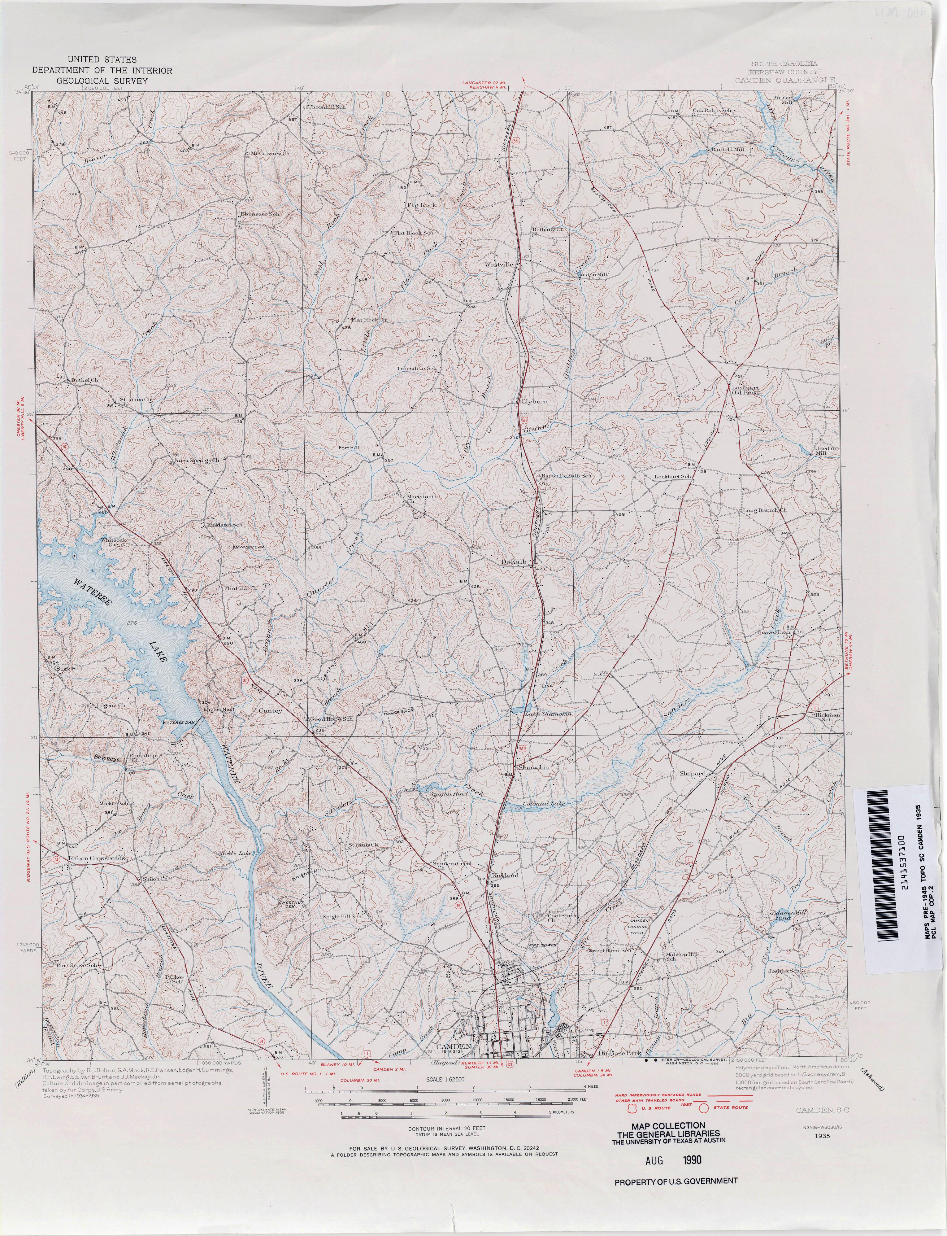 South Carolina Historical Topographic Maps - Perry-Castañeda Map ...