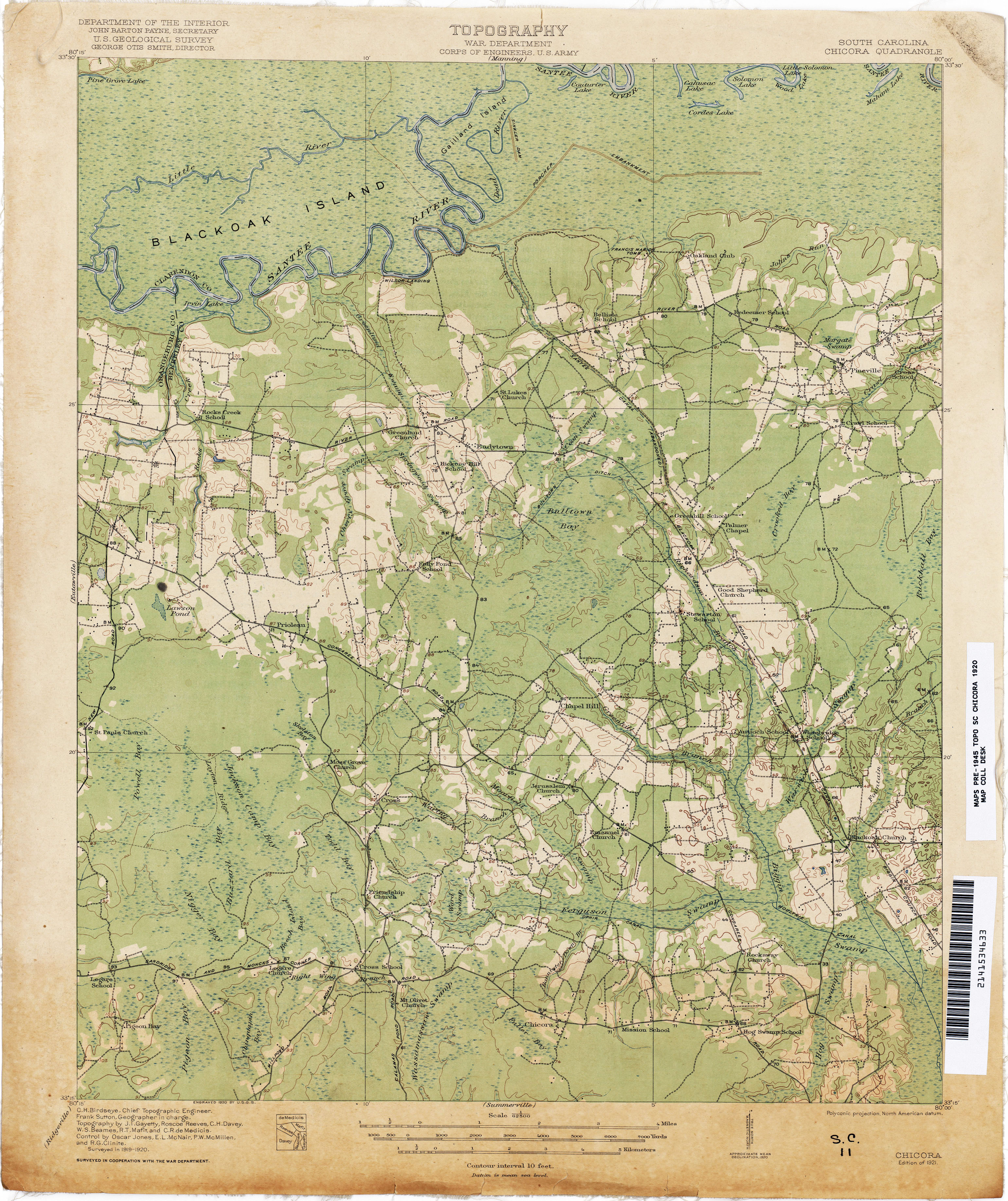 South Carolina Historical Topographic Maps PerryCastañeda Map - Maps of sc