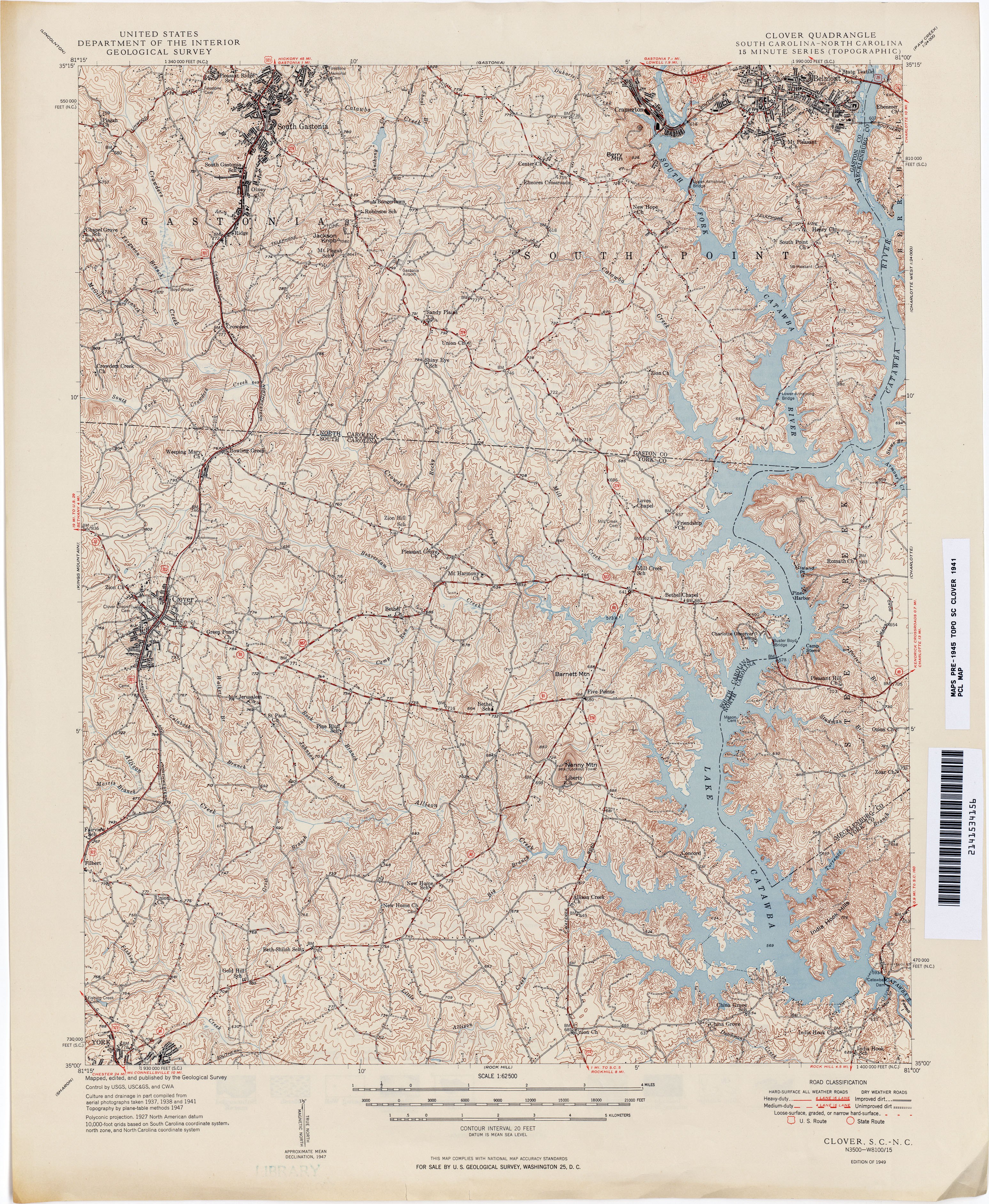 South Carolina Historical Topographic Maps PerryCastañeda Map - Road map of north and south carolina