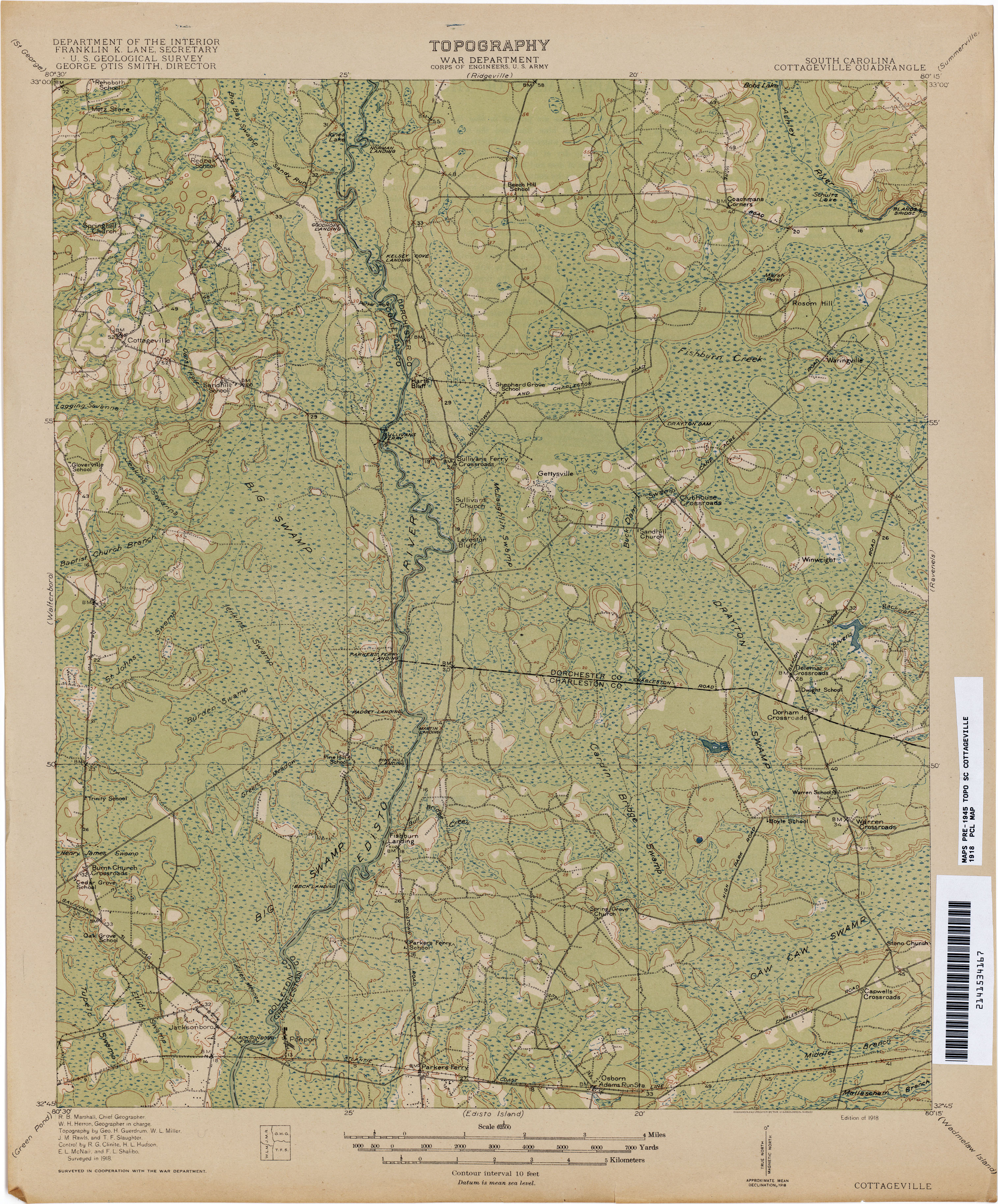 South Carolina Historical Topographic Maps PerryCastañeda Map - Sc maps