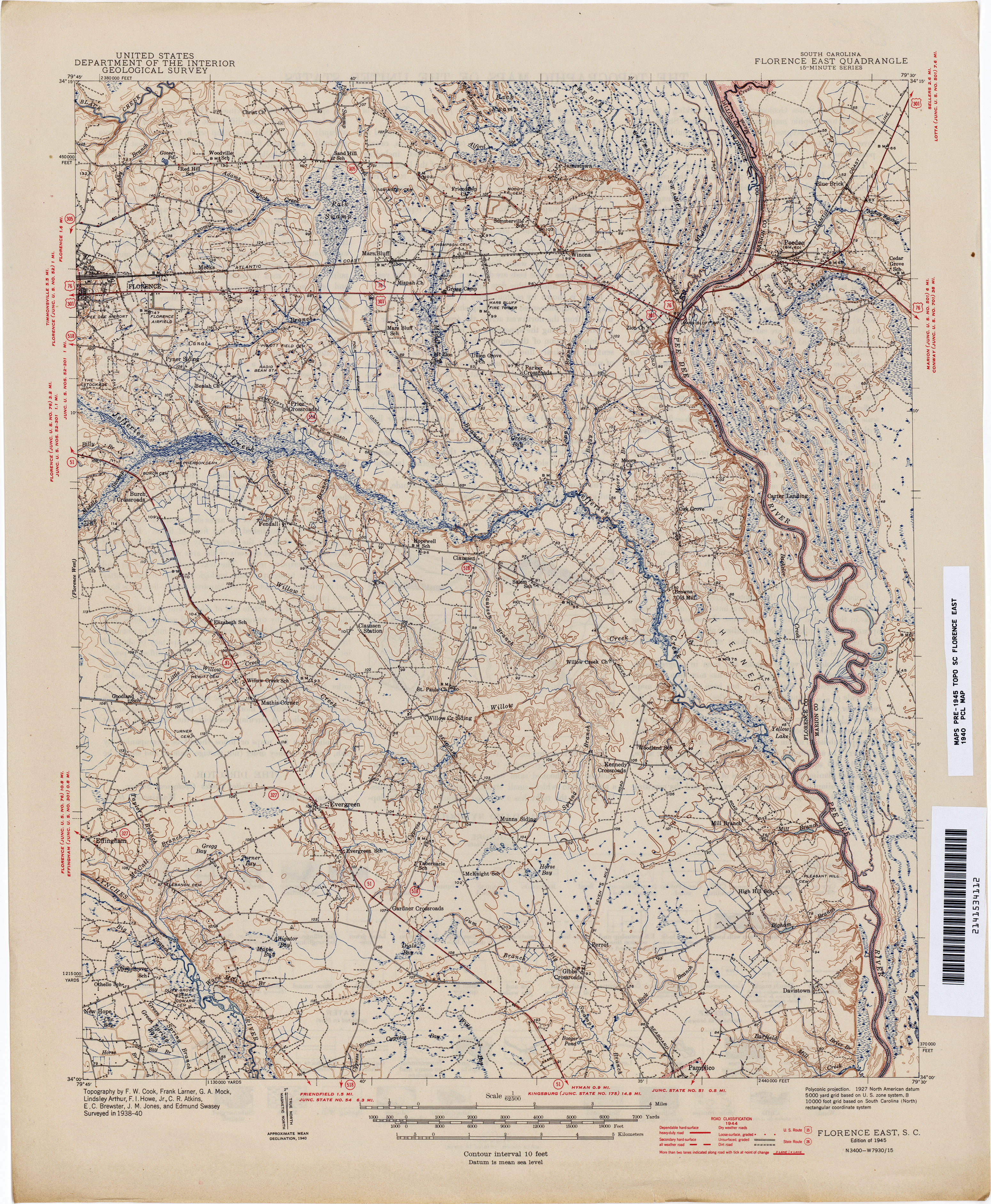 South Carolina Historical Topographic Maps PerryCastaeda Map