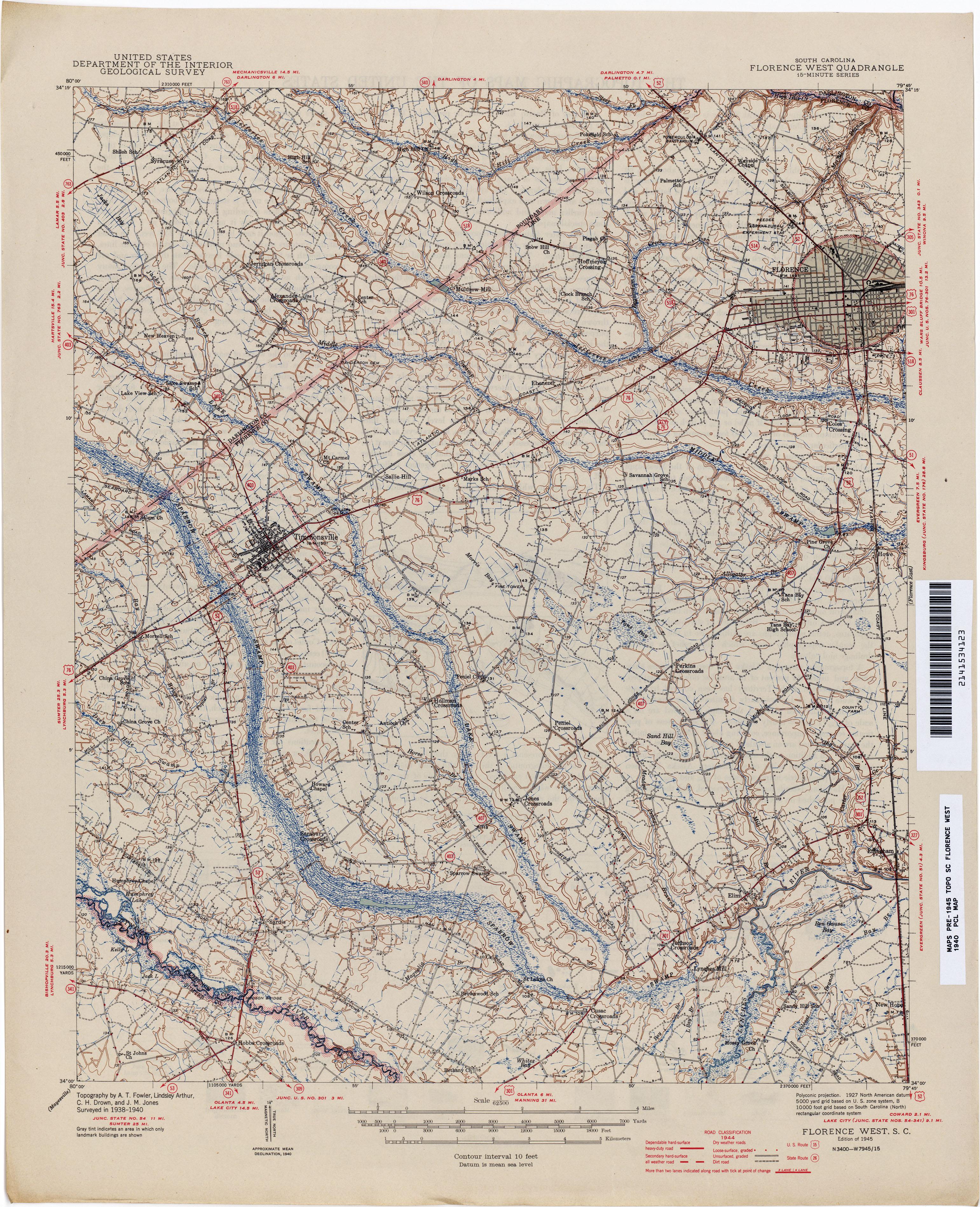 free online topo maps sc map