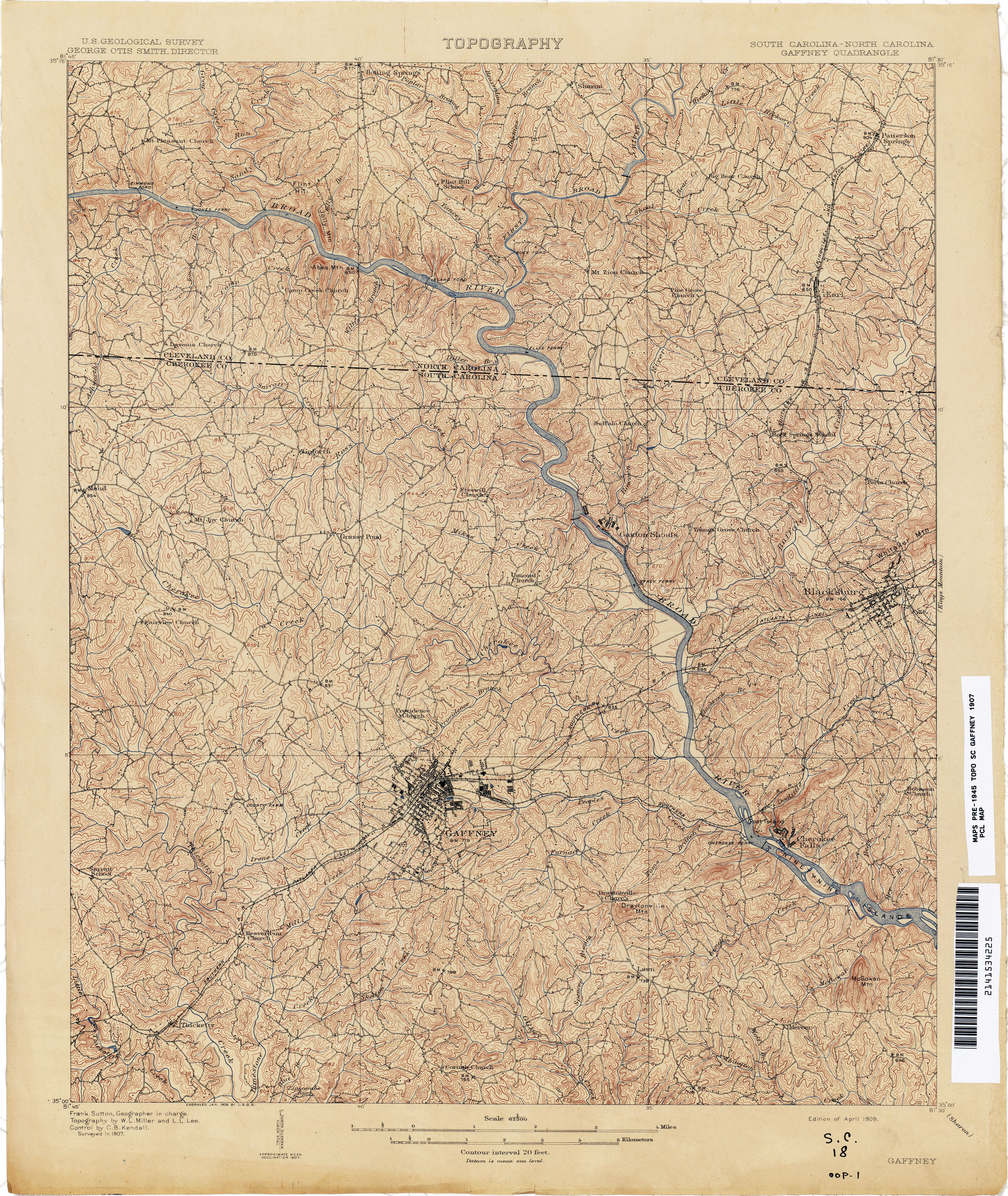 South Carolina Historical Topographic Maps - Perry-Castañeda Map ...