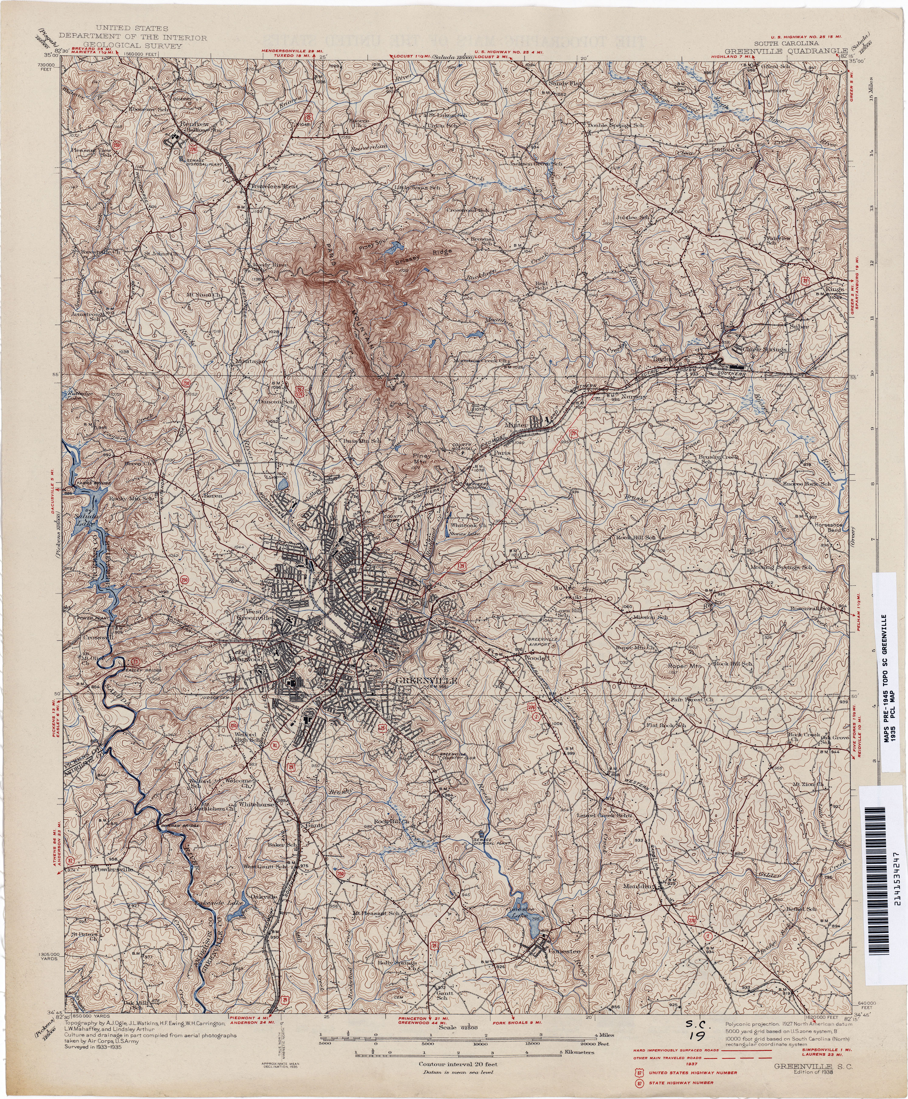 South Carolina Historical Topographic Maps PerryCastañeda Map - South carolina on us map
