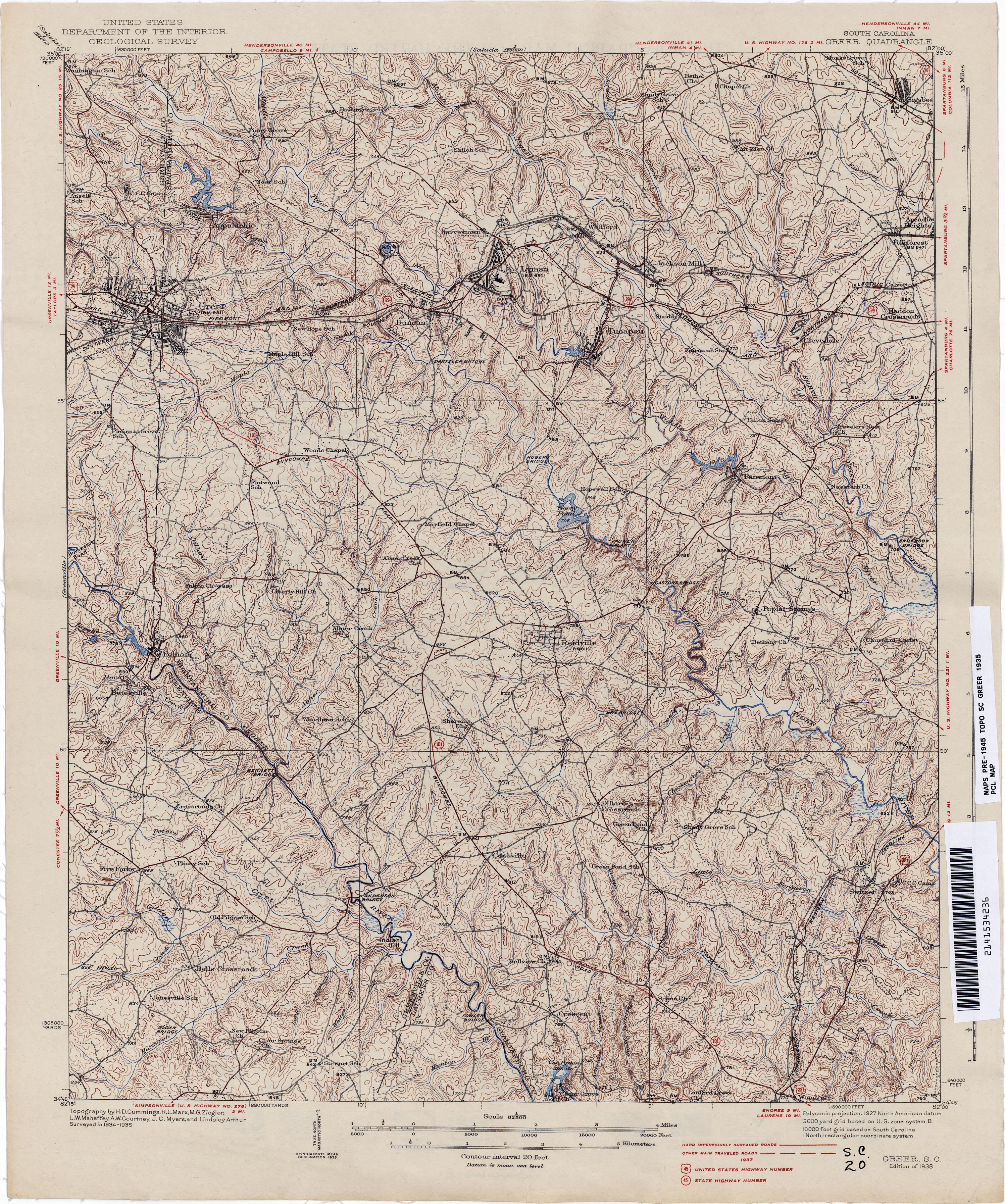 South Carolina Historical Topographic Maps Perry Castaneda Map