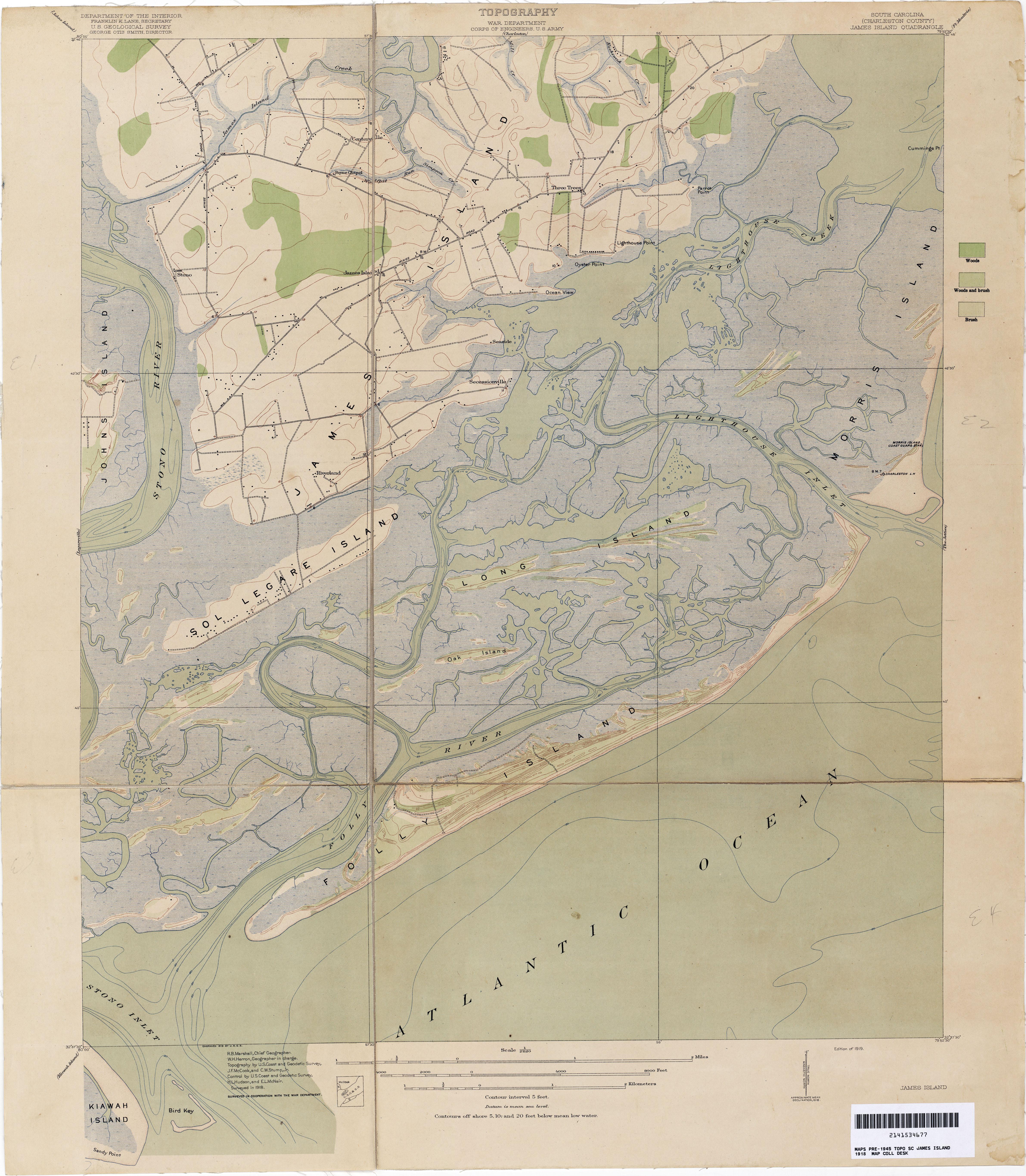 South Carolina Map Islands.South Carolina Historical Topographic Maps Perry Castaneda Map