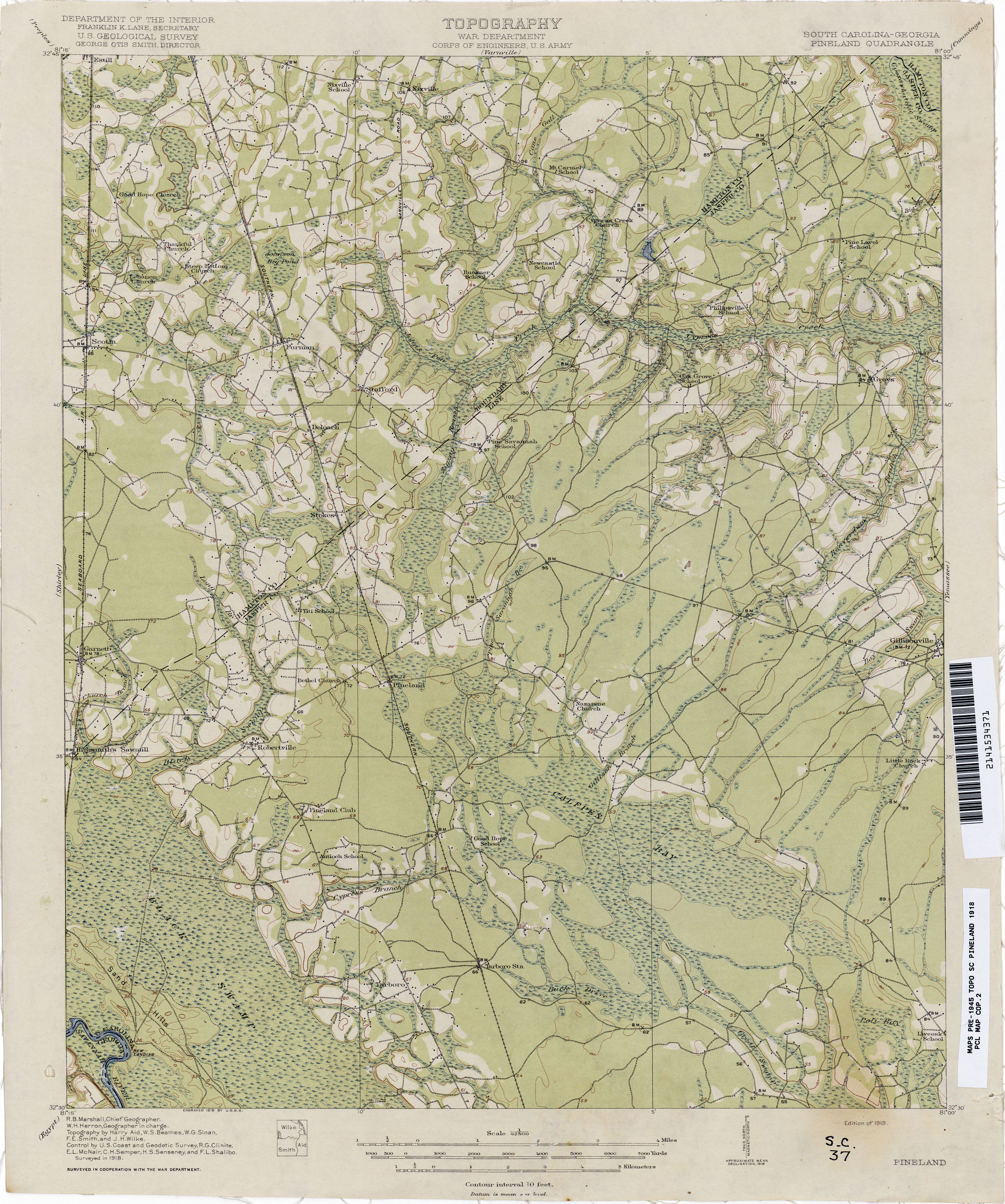 South Carolina Historical Topographic Maps Perry Castaneda Map