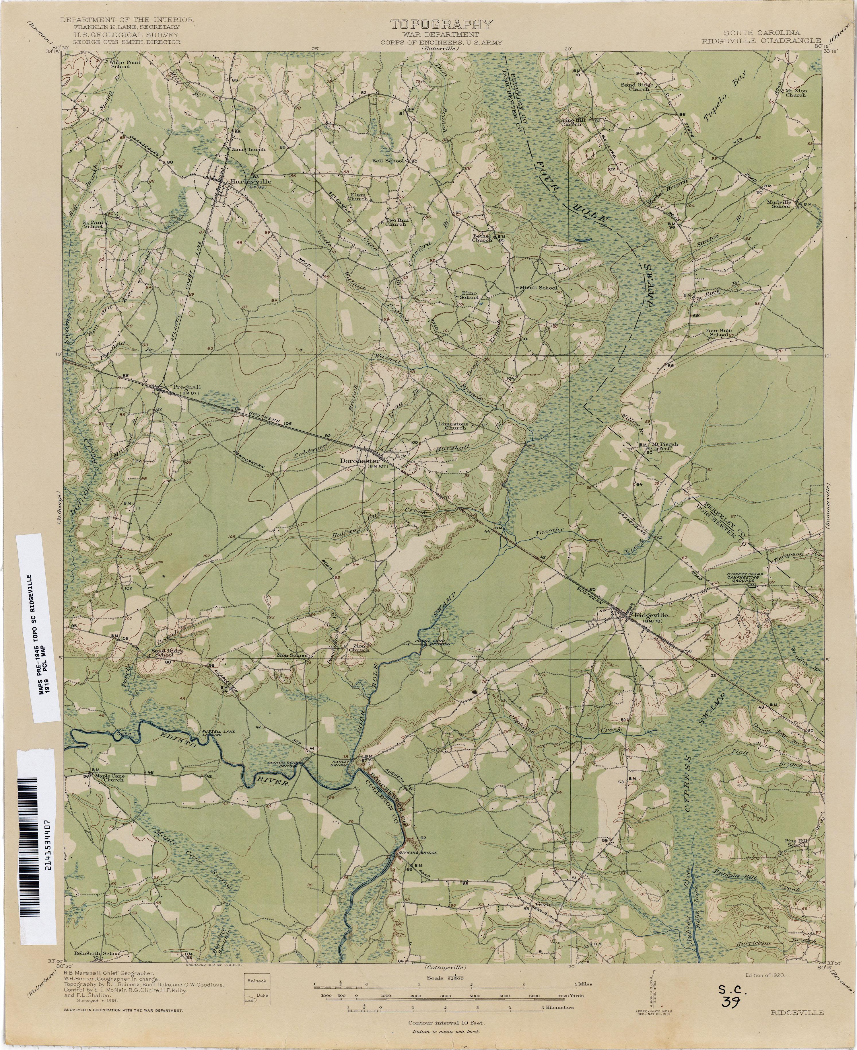 South Carolina Historical Topographic Maps PerryCastañeda Map - Map south carolina