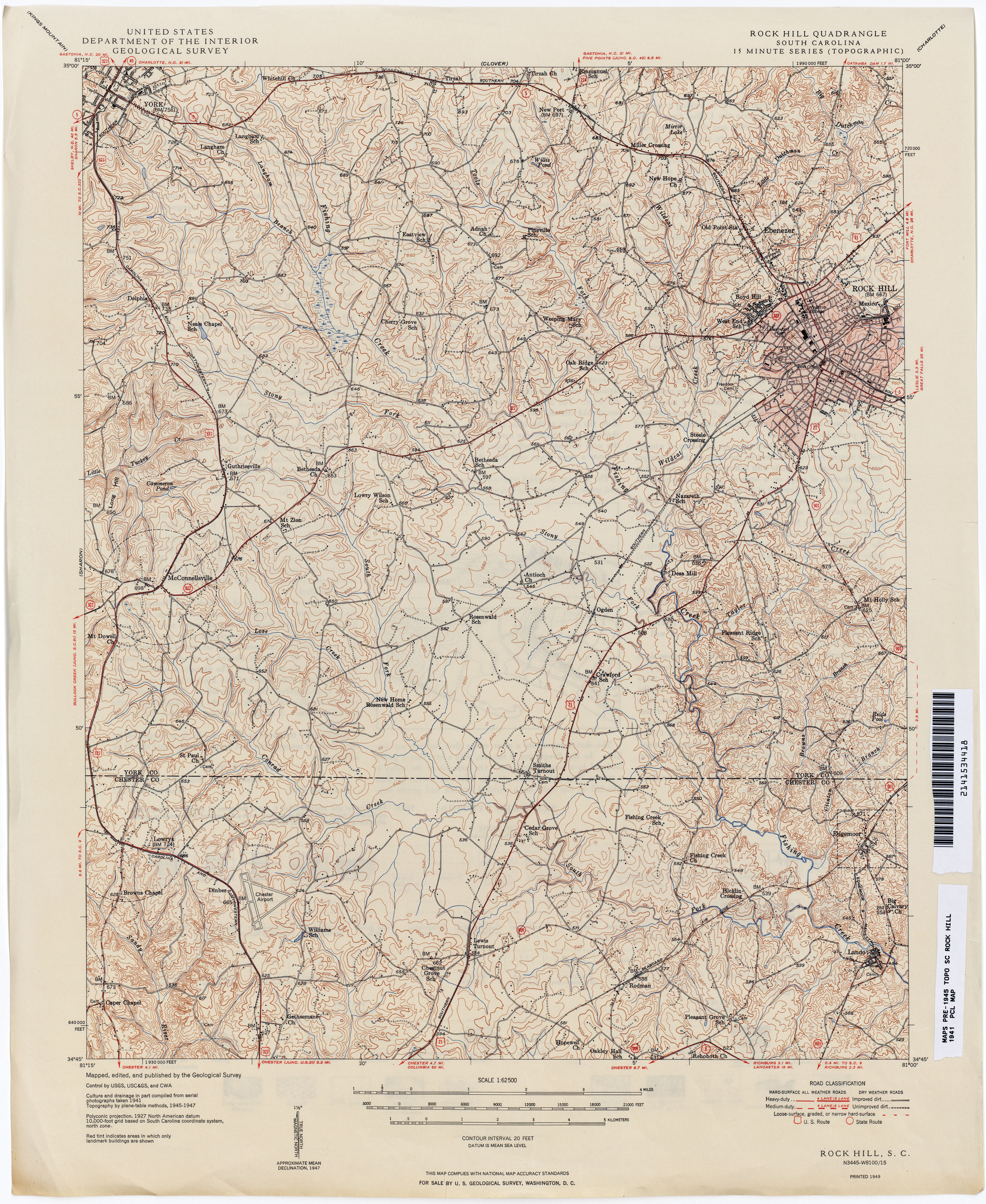 Hill Topographic Map.South Carolina Historical Topographic Maps Perry Castaneda Map