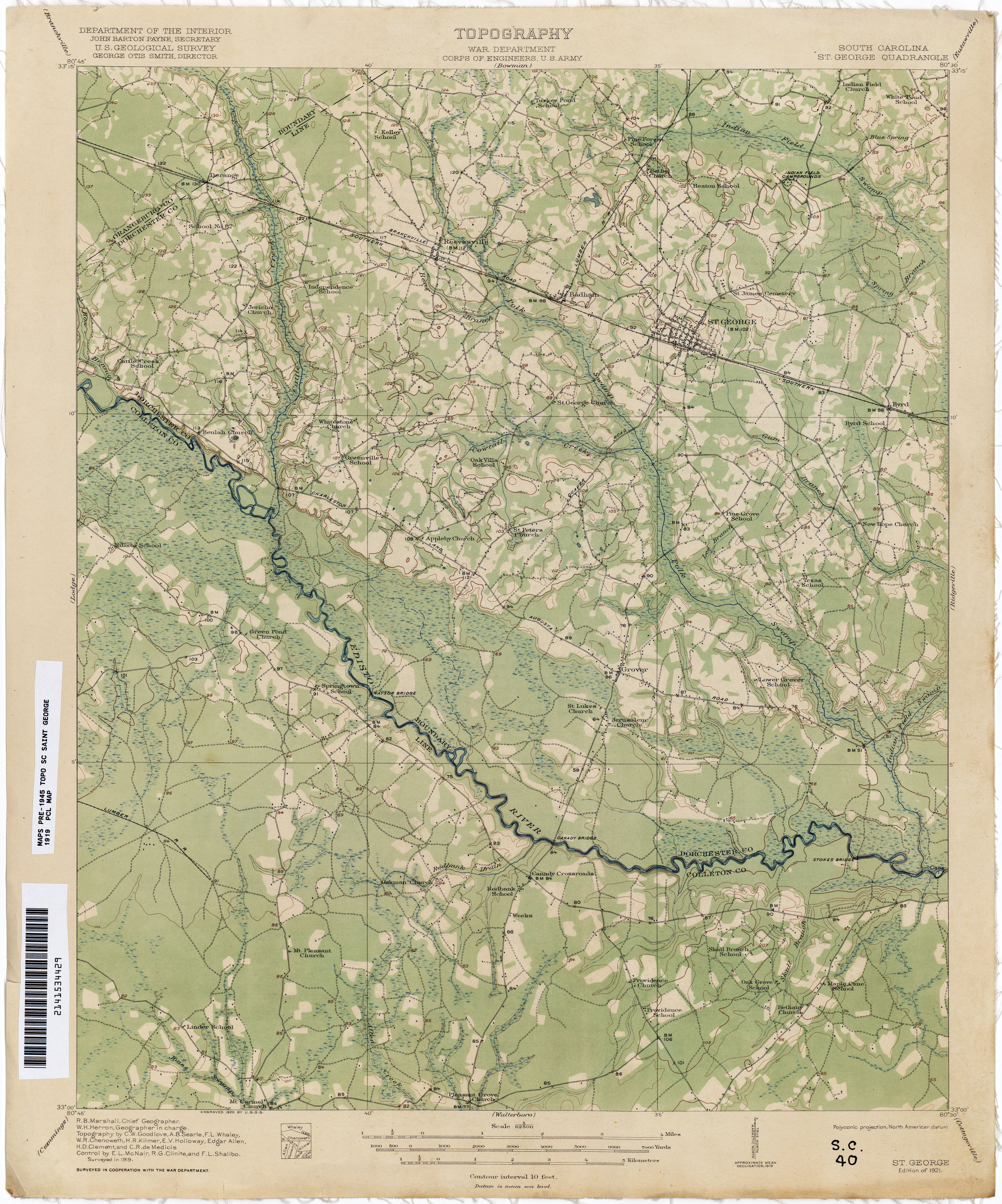 South Carolina Historical Topographic Maps - Perry-Castañeda