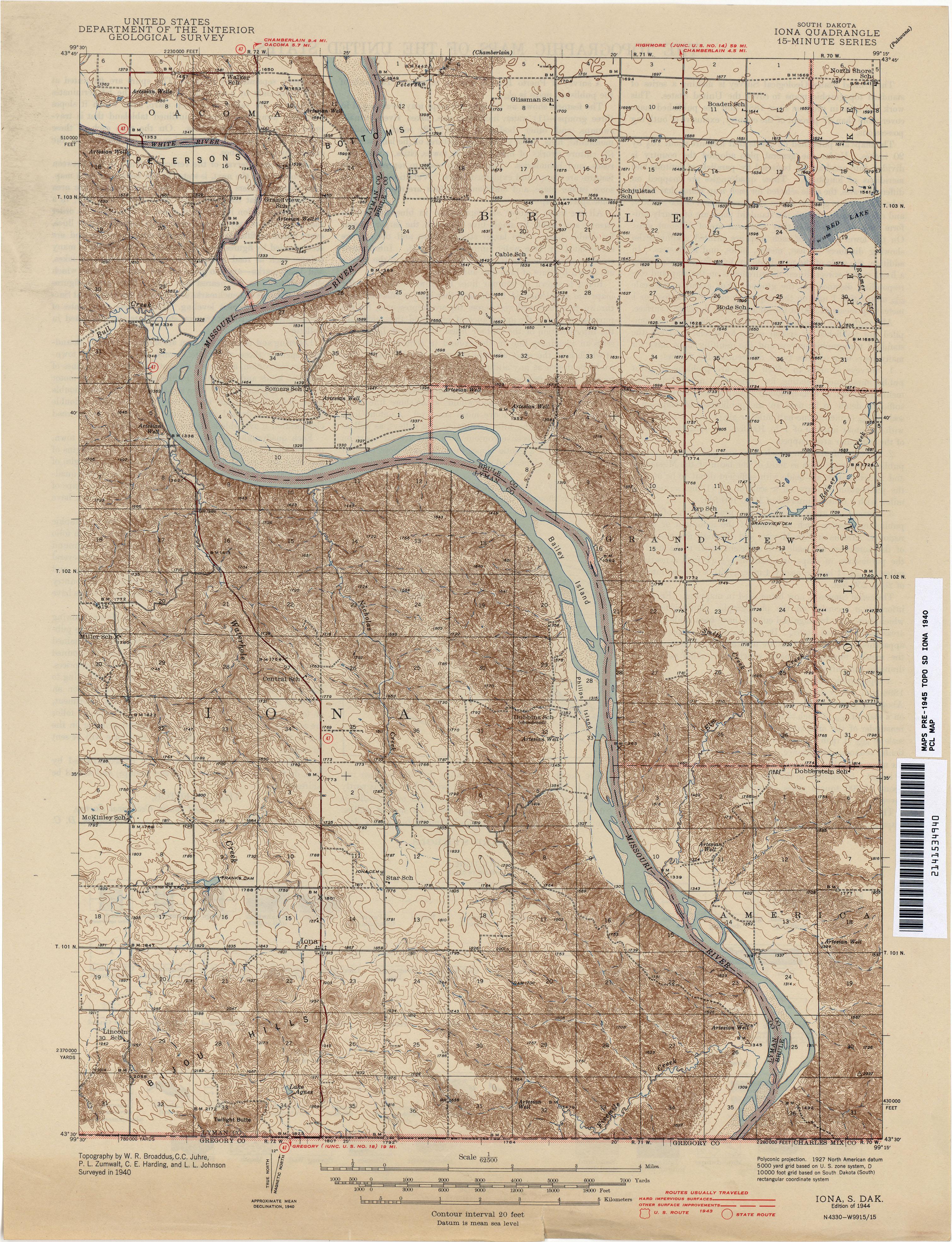 south dakota historical topographic maps