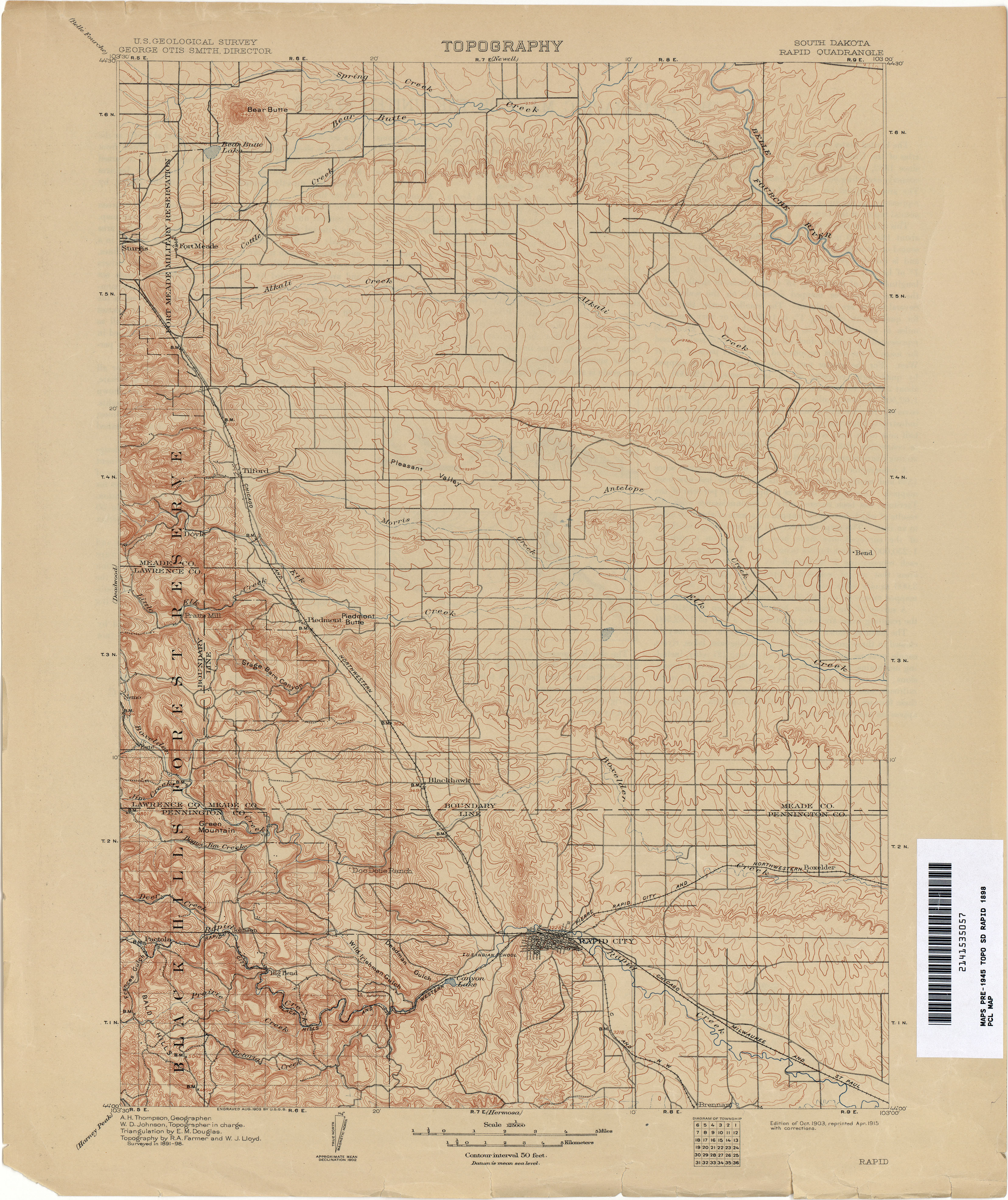 South Dakota Historical Topographic Maps  PerryCastaeda Map