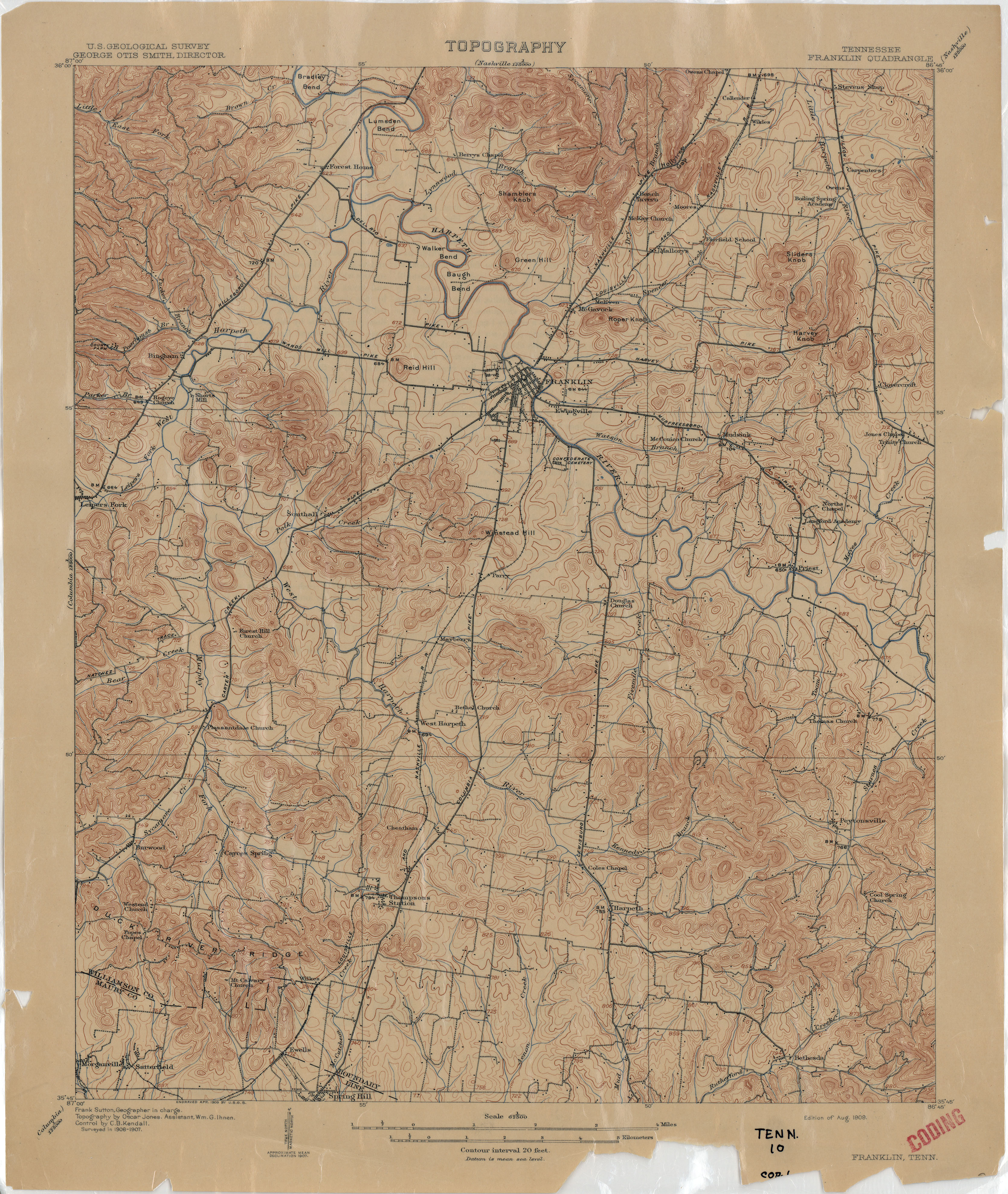 Tennesse Historical Topographic Maps PerryCastañeda Map - Tn maps