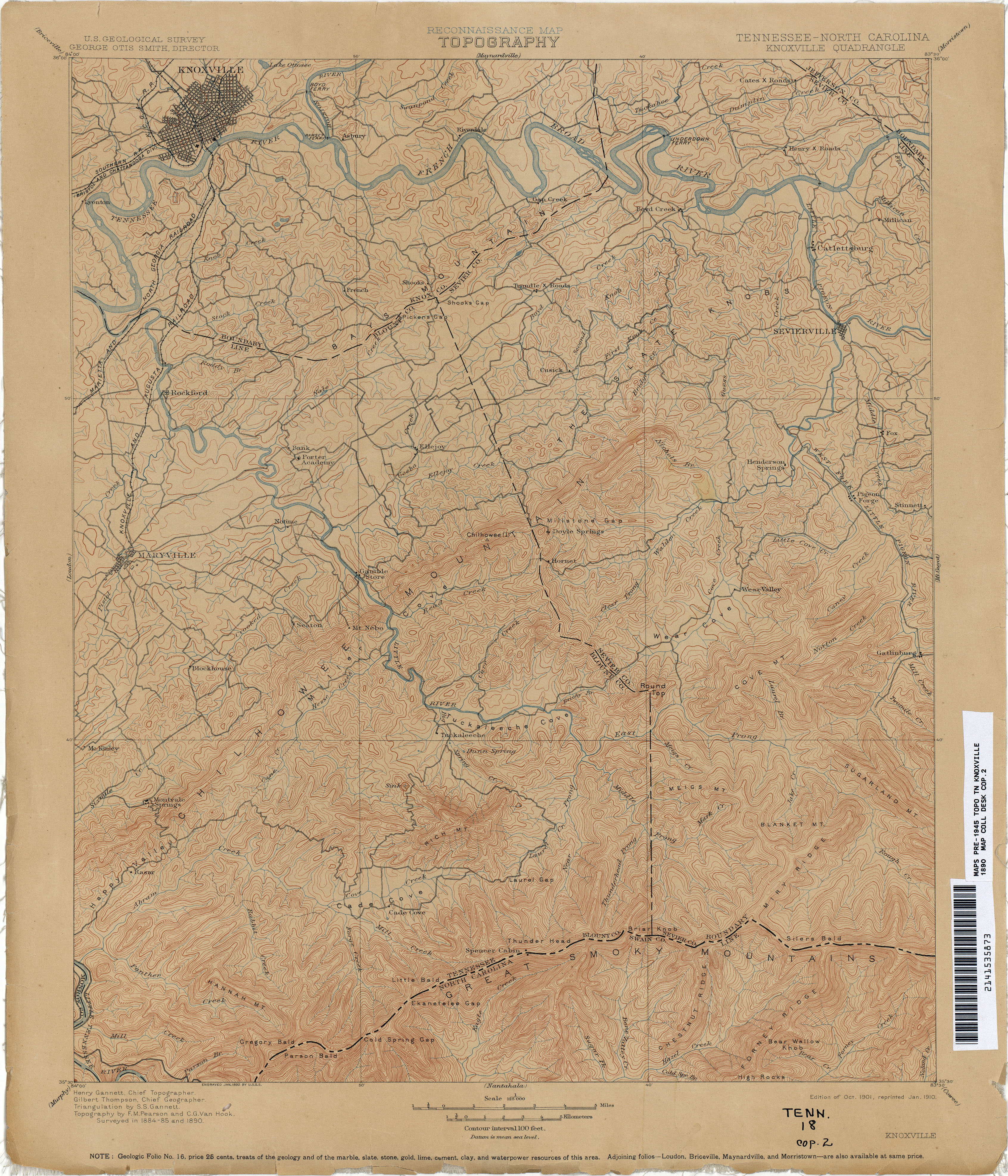 Tennesse Historical Topographic Maps PerryCastañeda Map - Map tenn
