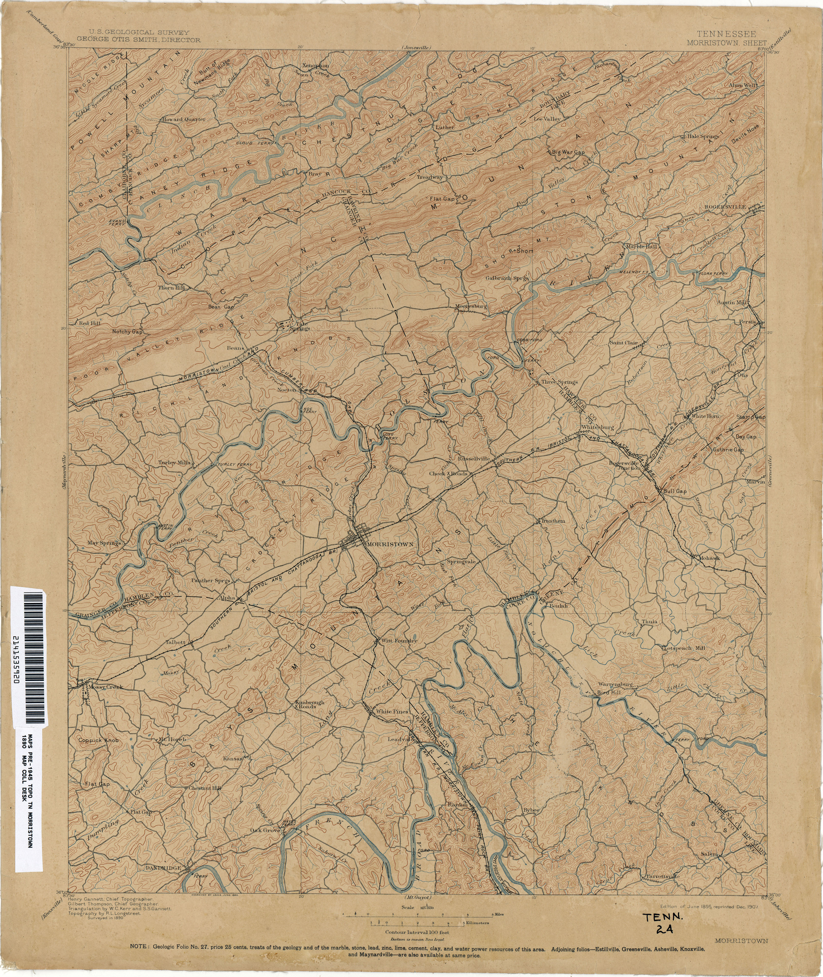 Tennesse Historical Topographic Maps - Perry-Castañeda Map ... on