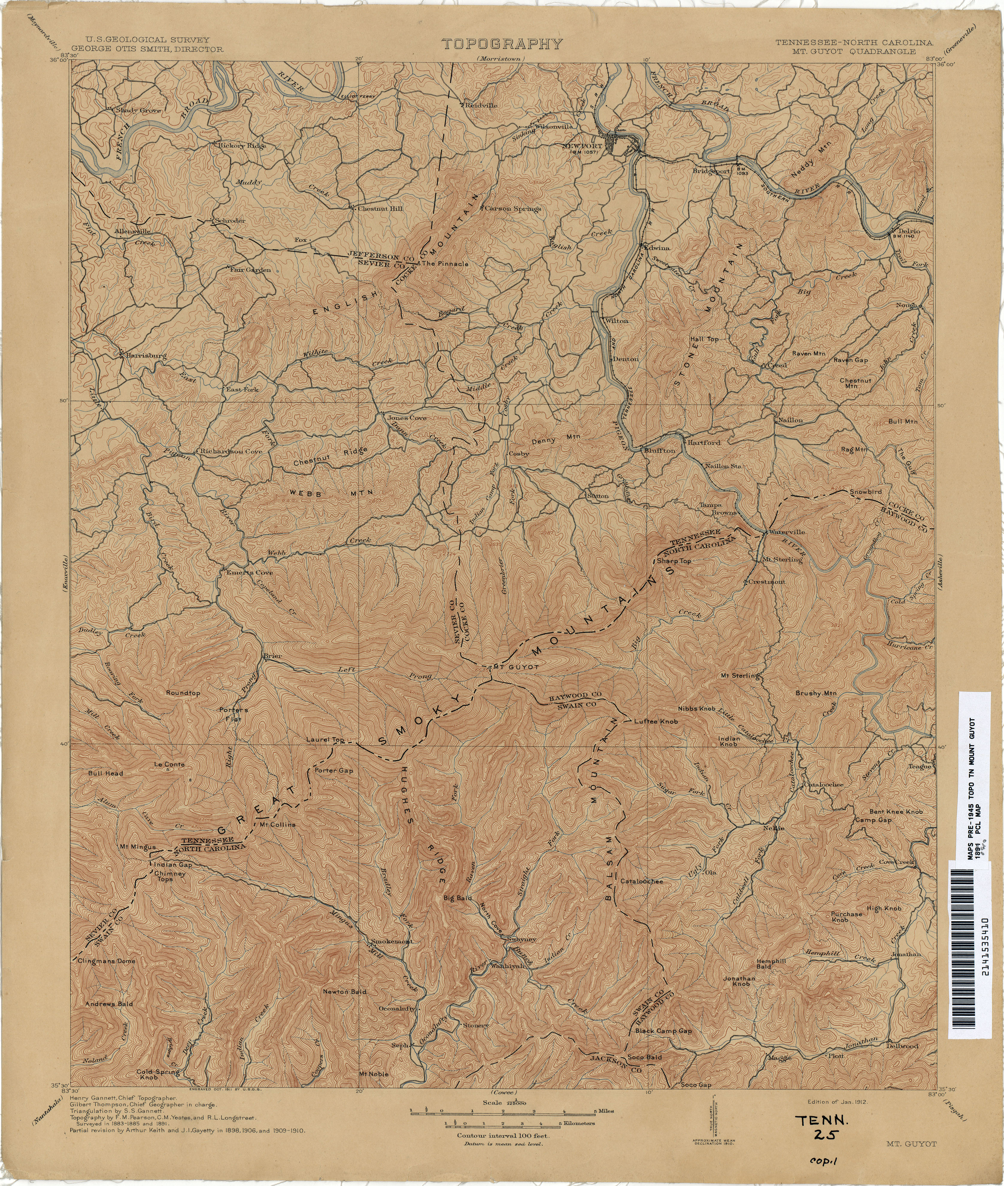 Tennesse Historical Topographic Maps - Perry-Castañeda Map ...
