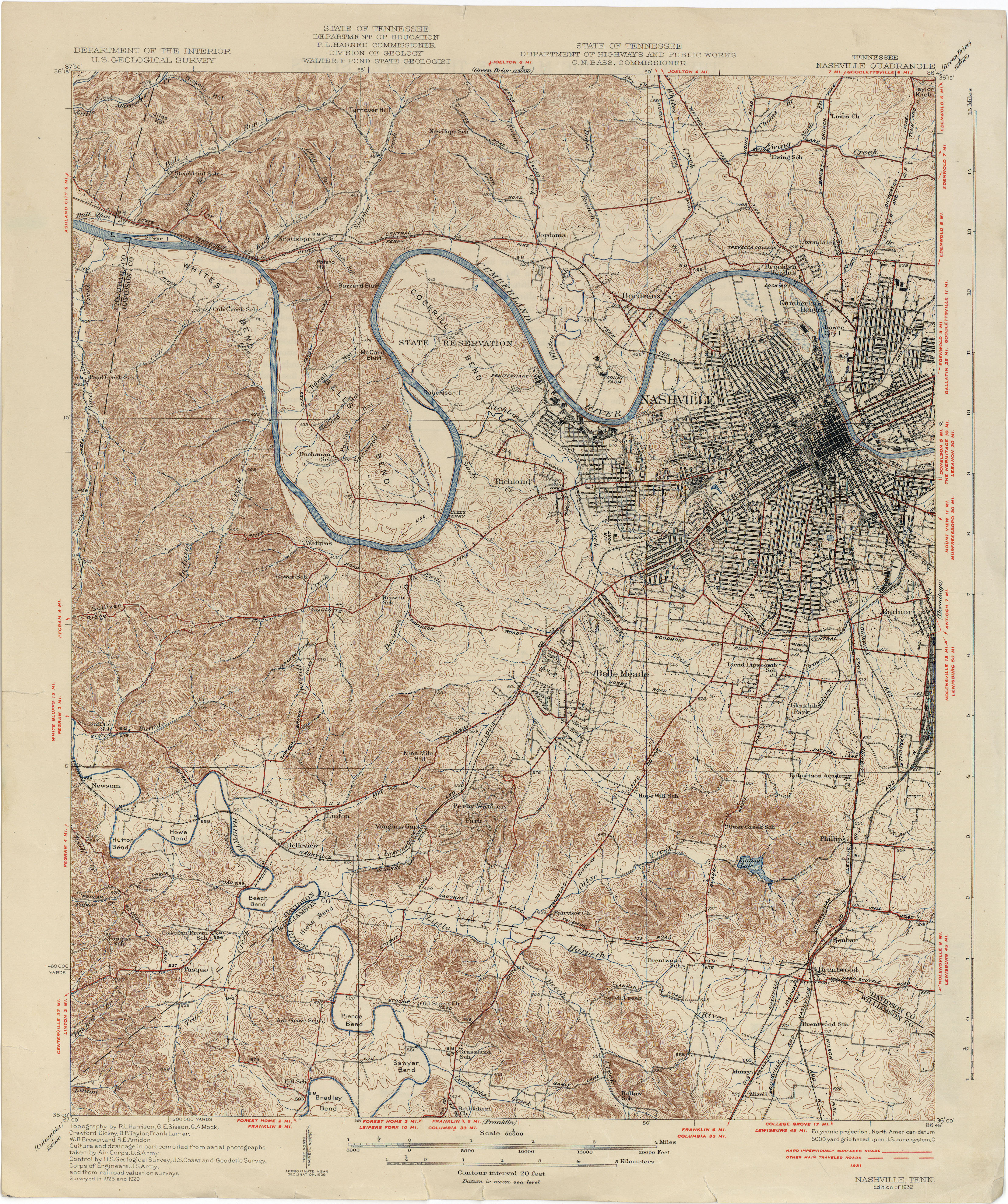 Tennesse Historical Topographic Maps PerryCastañeda Map - Tennessee maps