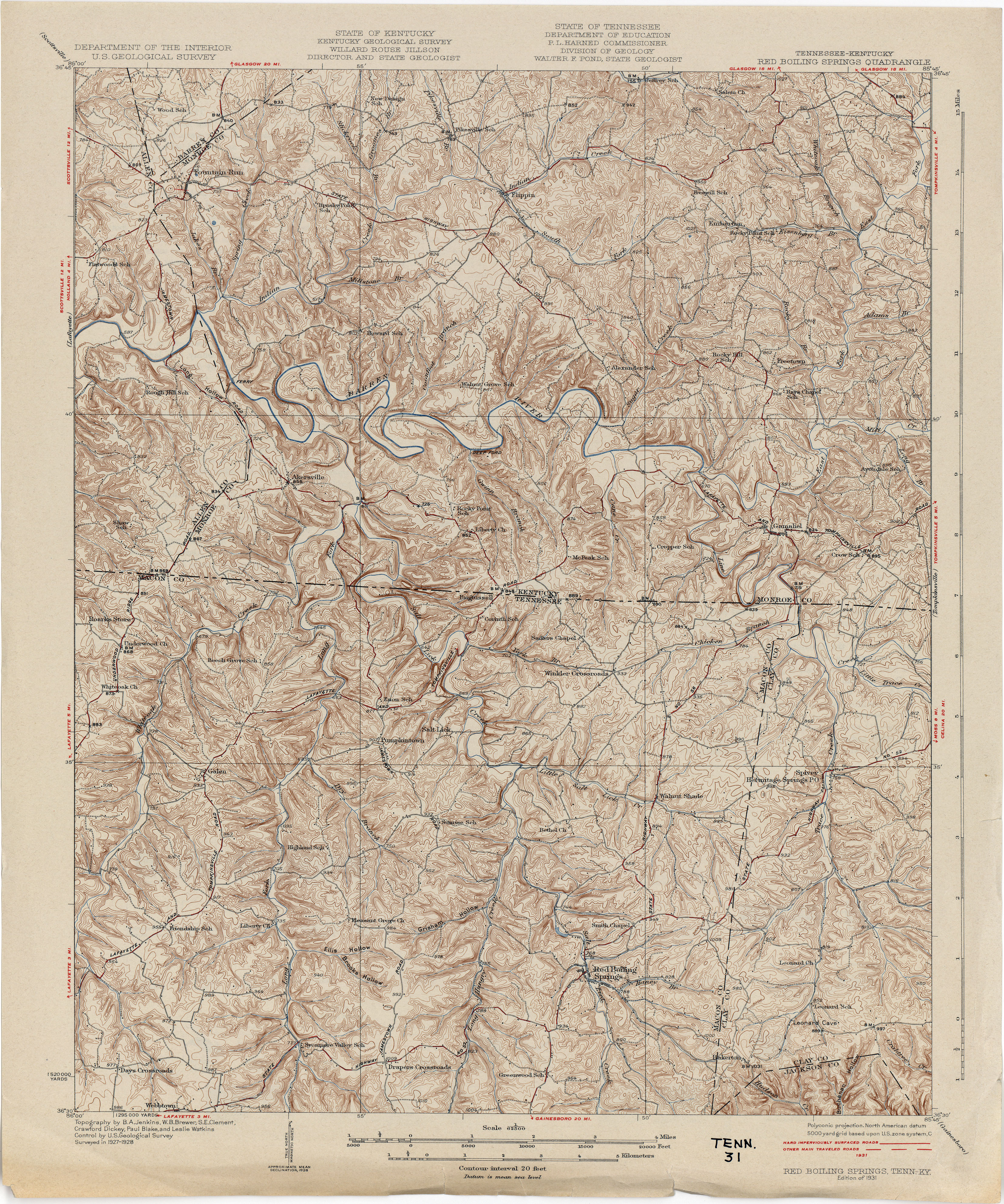 Tennesse Historical Topographic Maps PerryCastañeda Map - Tenn map