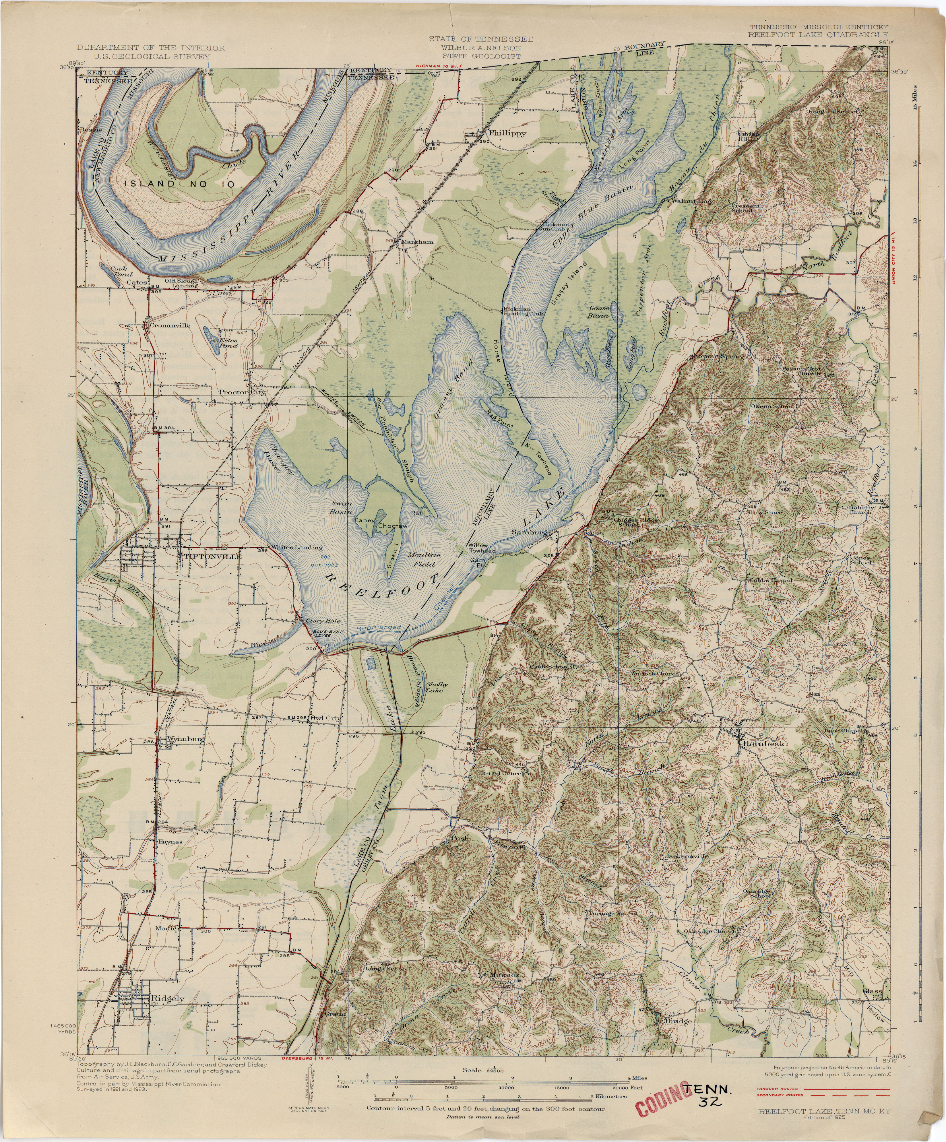 Reelfoot Lake Tennessee Map.Tennesse Historical Topographic Maps Perry Castaneda Map