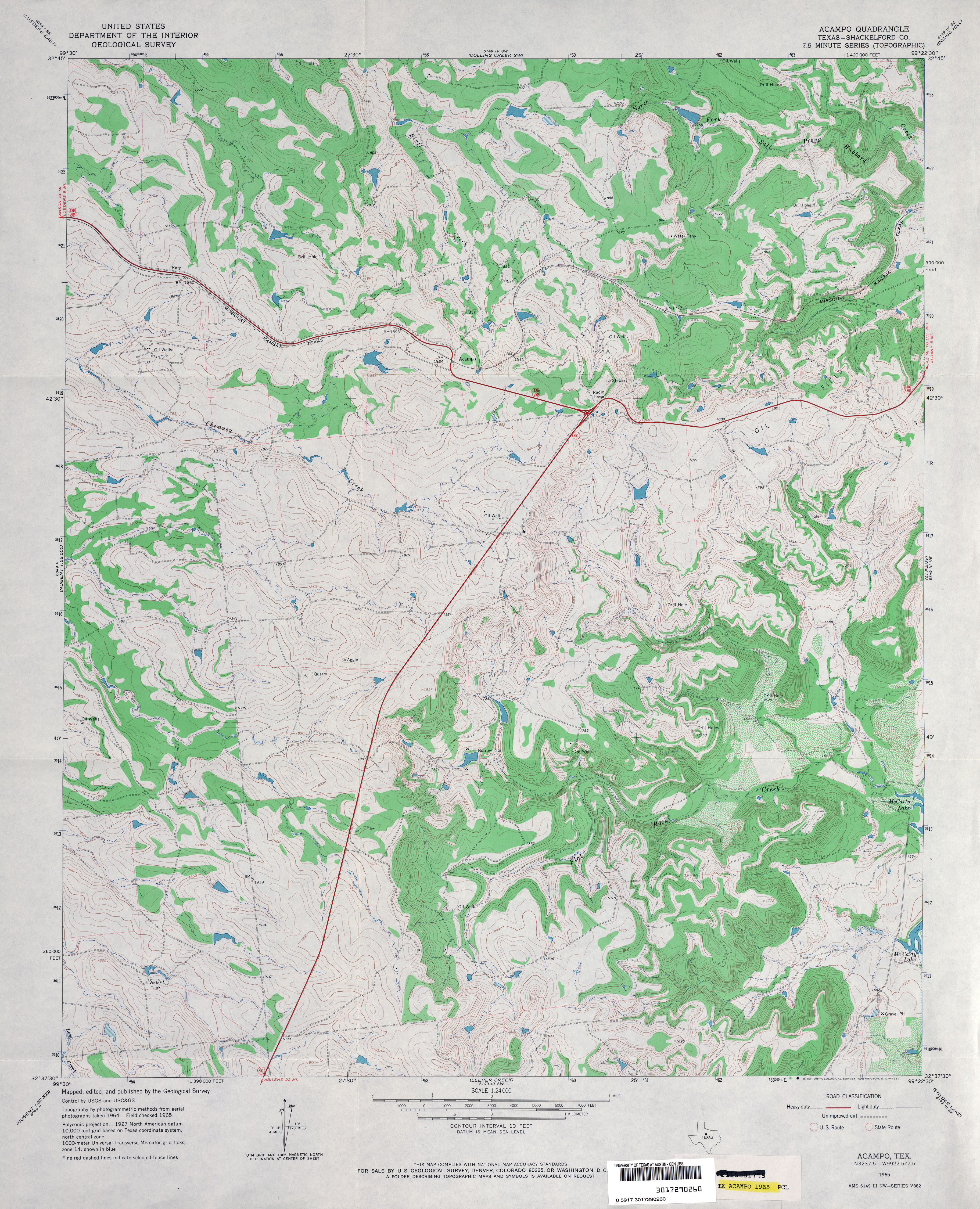 Texas Topographic Maps PerryCastañeda Map Collection UT - Us geological survey topographic maps for sale
