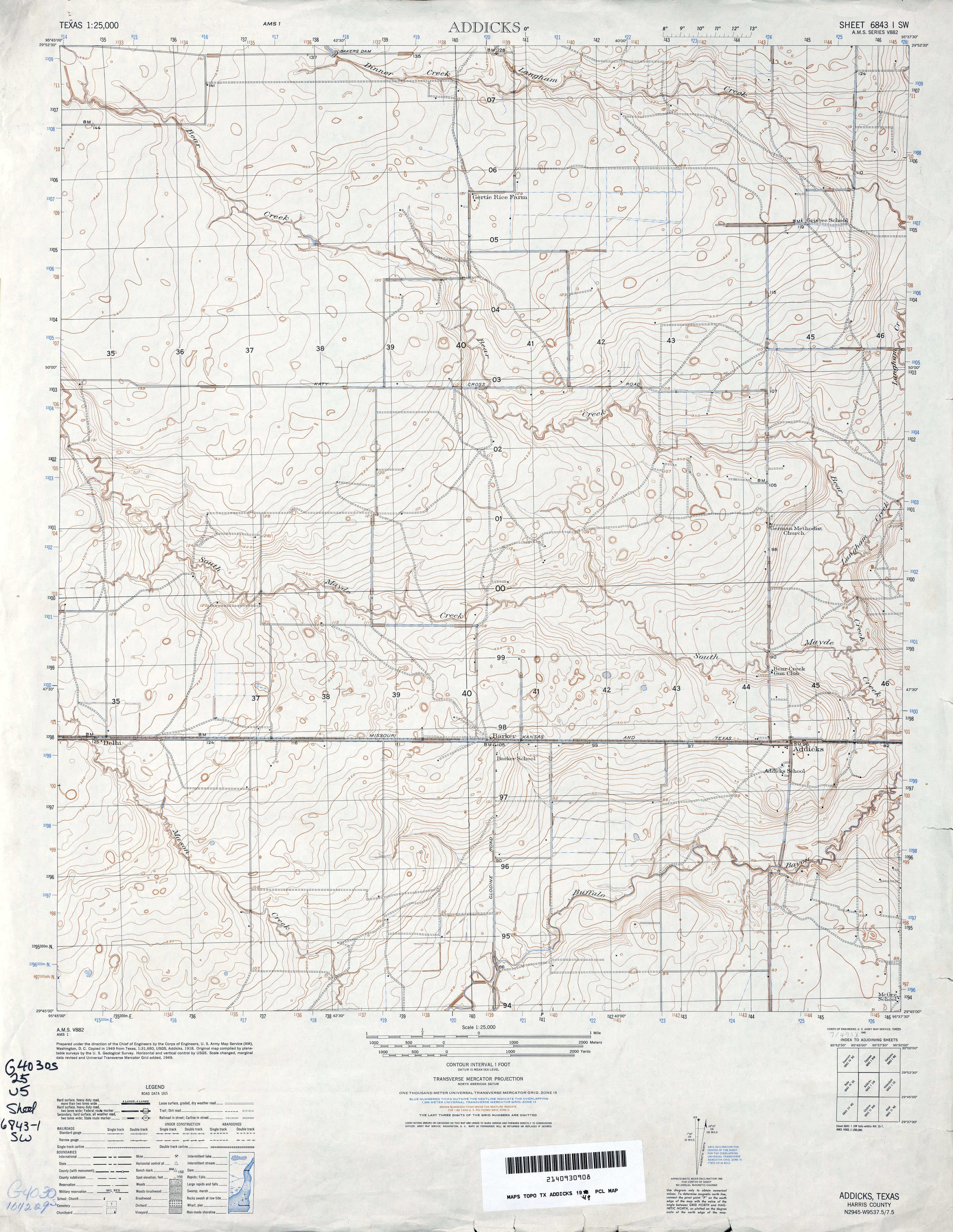 Texas Topographic Maps Perrycastaneda Map Collection Ut Us Army Topographic Maps