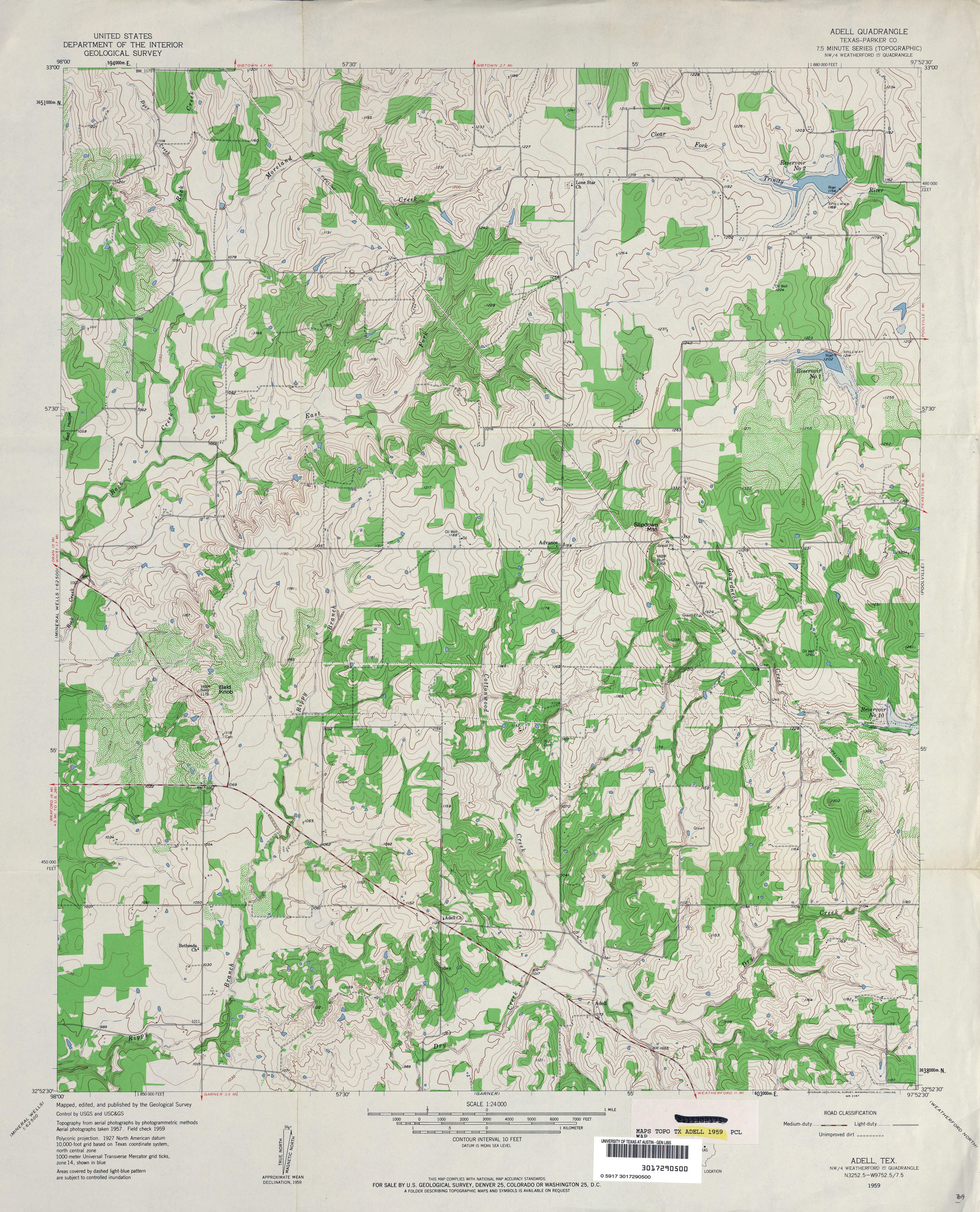 Texas Topographic Maps PerryCastaeda Map Collection UT