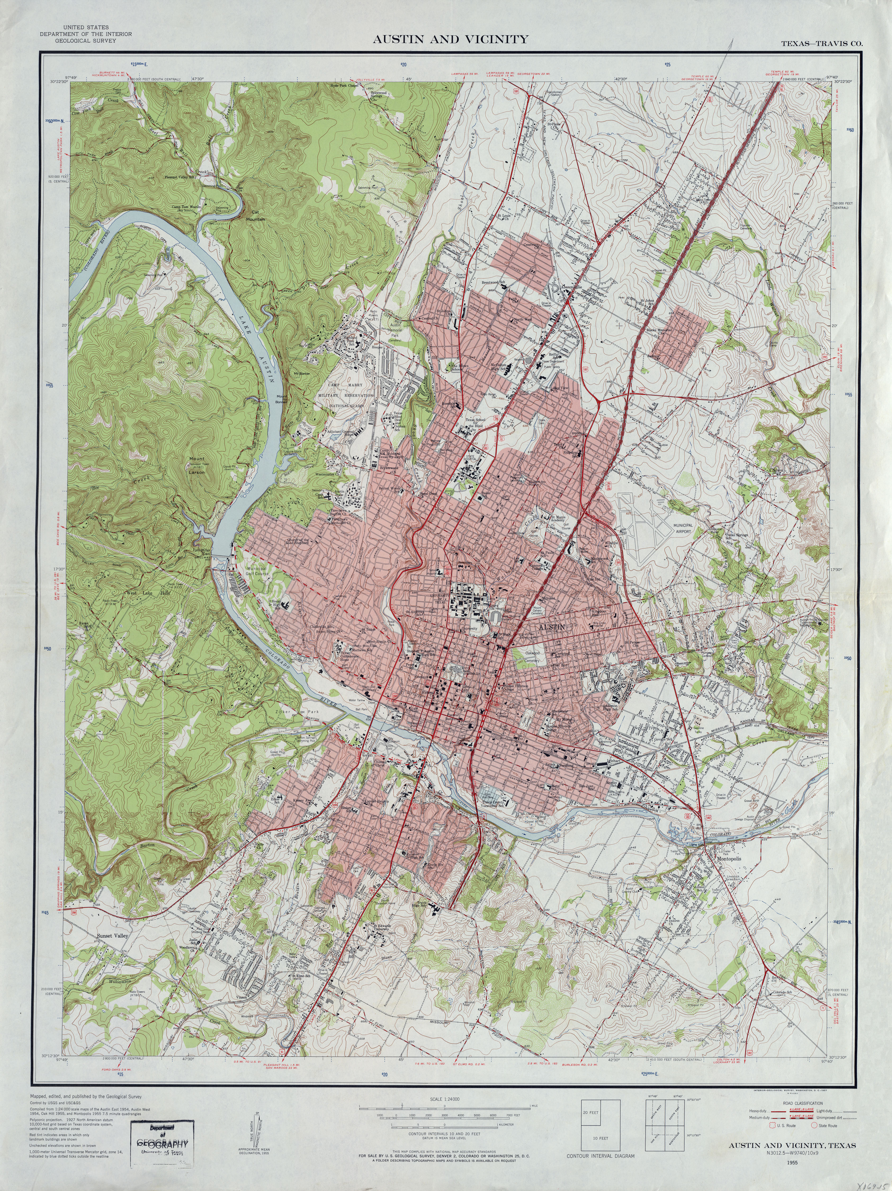 Austin Texas Topographic Maps PerryCastañeda Map Collection - Topographical map of texas