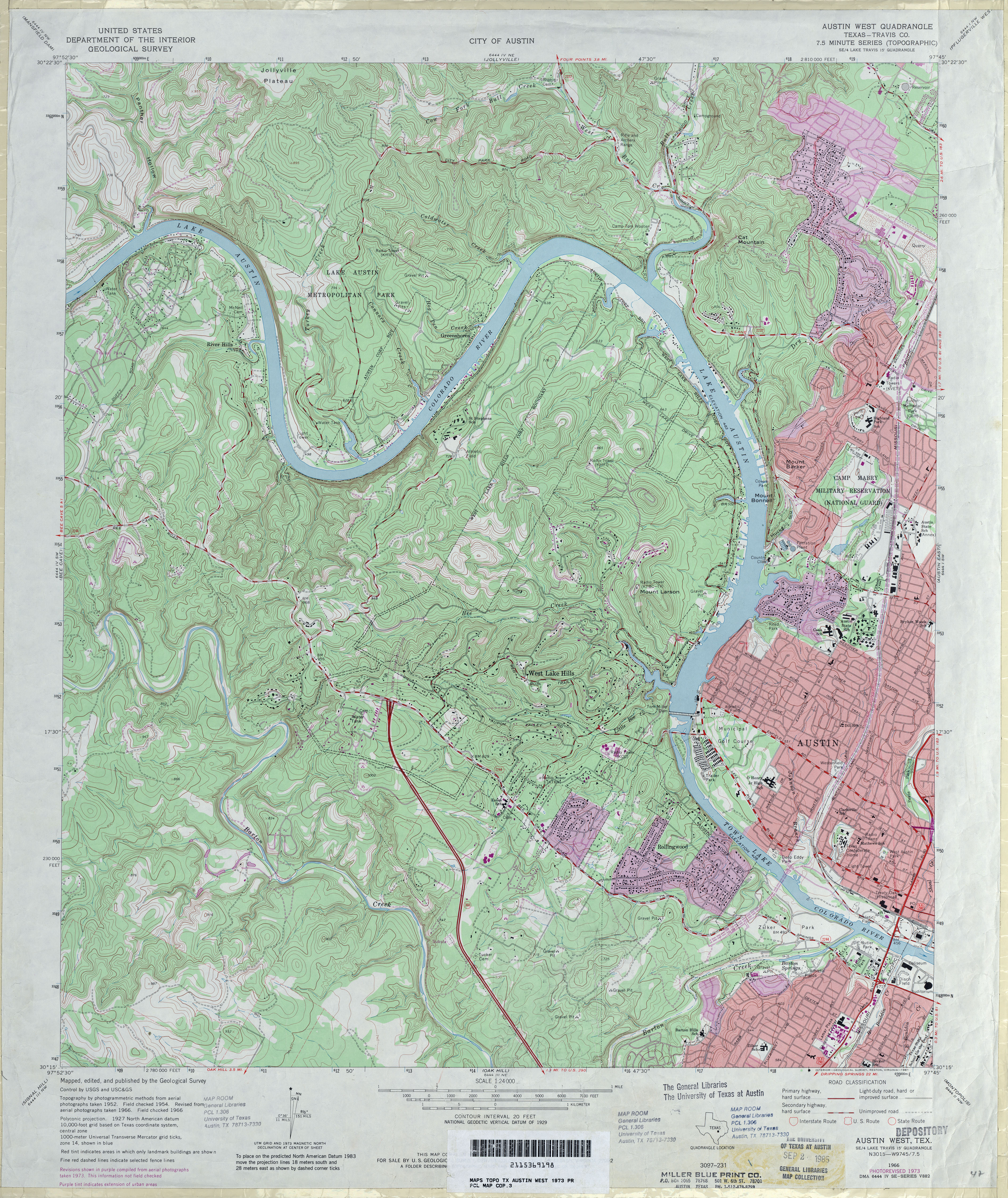 Austin, Texas Topographic Maps   Perry Castañeda Map Collection