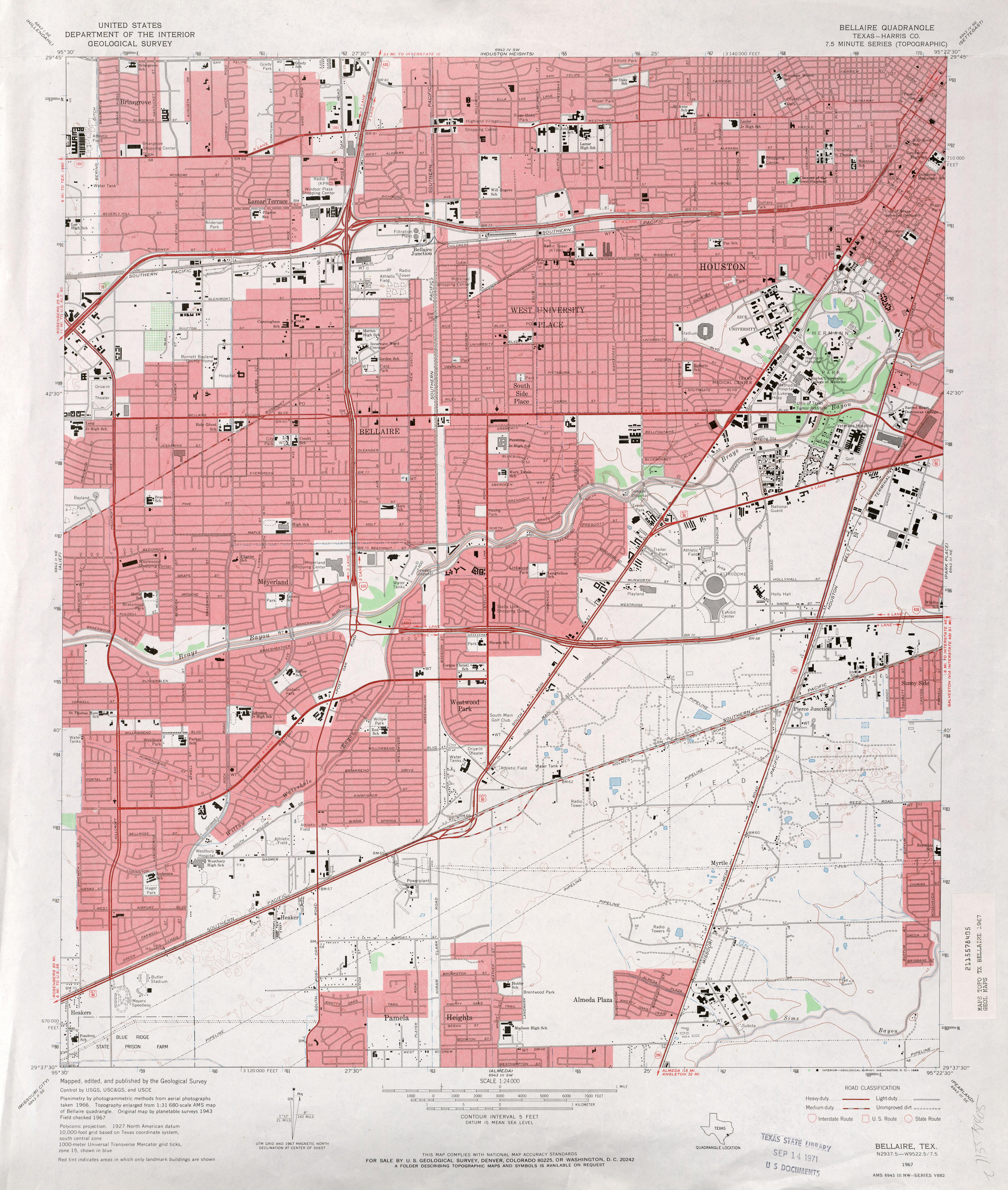 1967 Topographic Map Of Houston S 1967 Topographic Map Of Houston Ne 1967 Road Map Of Houston 1968 Road Map Of Houston