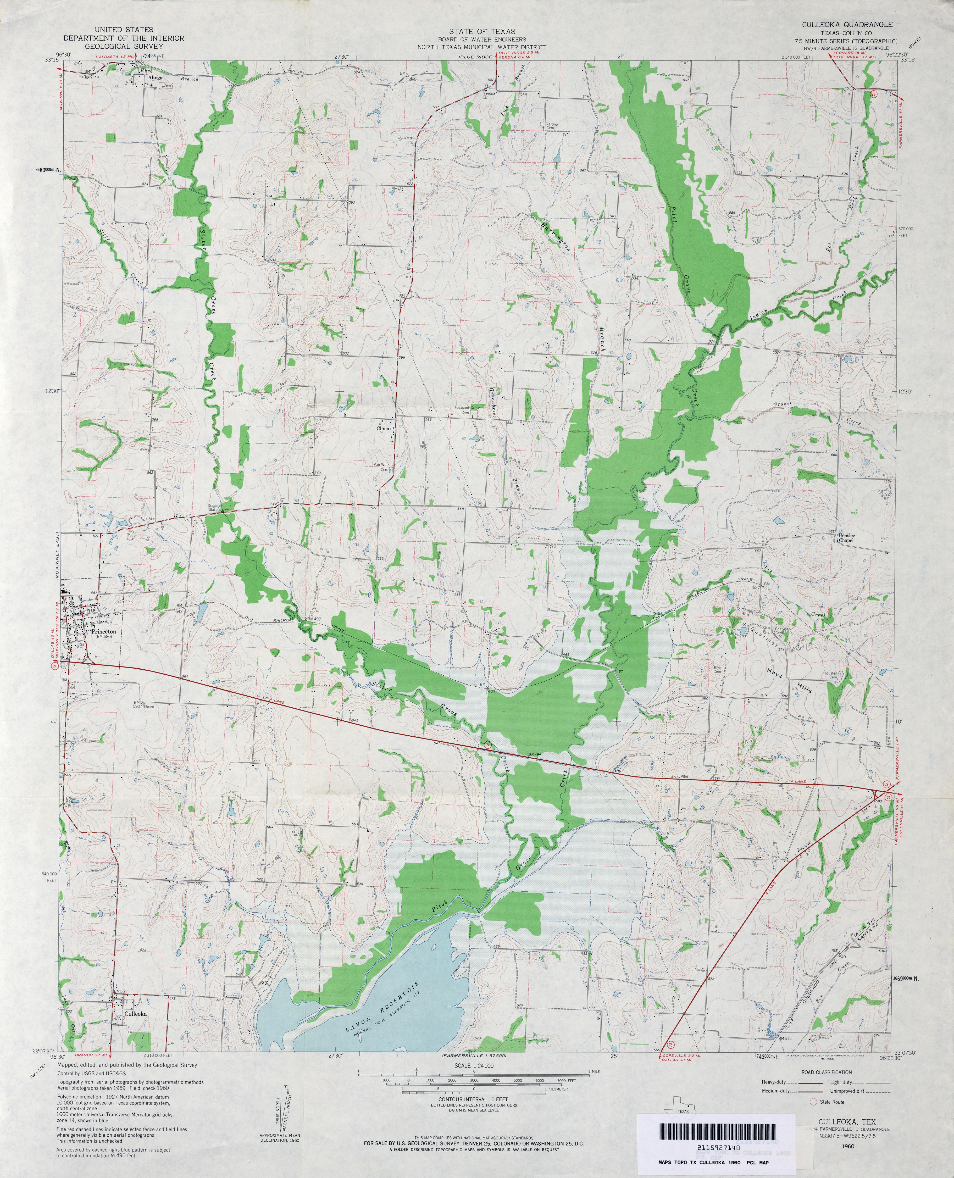 Pre-1974 Lavon Map