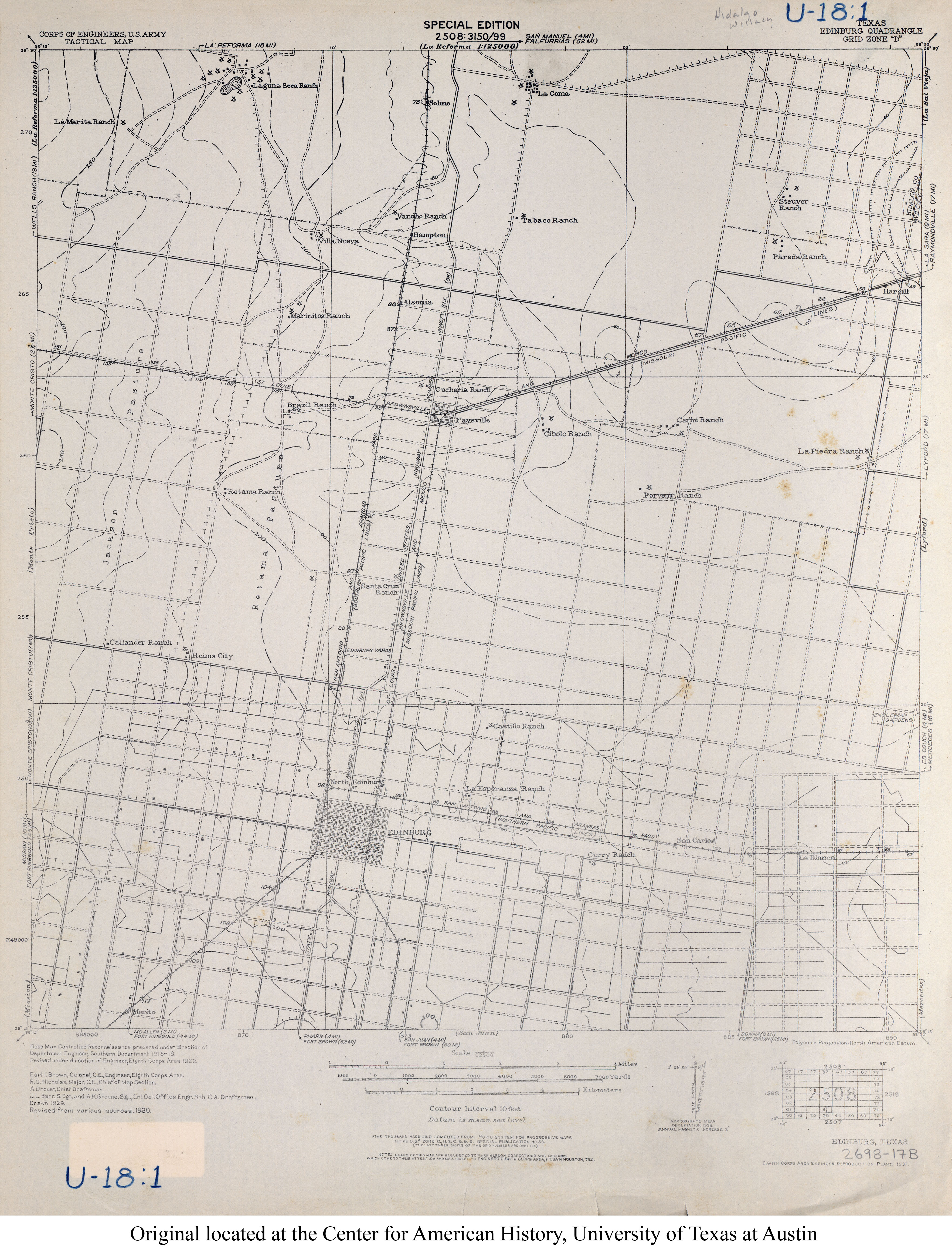 Texas Topographic Maps PerryCastañeda Map Collection UT - Us map 1930
