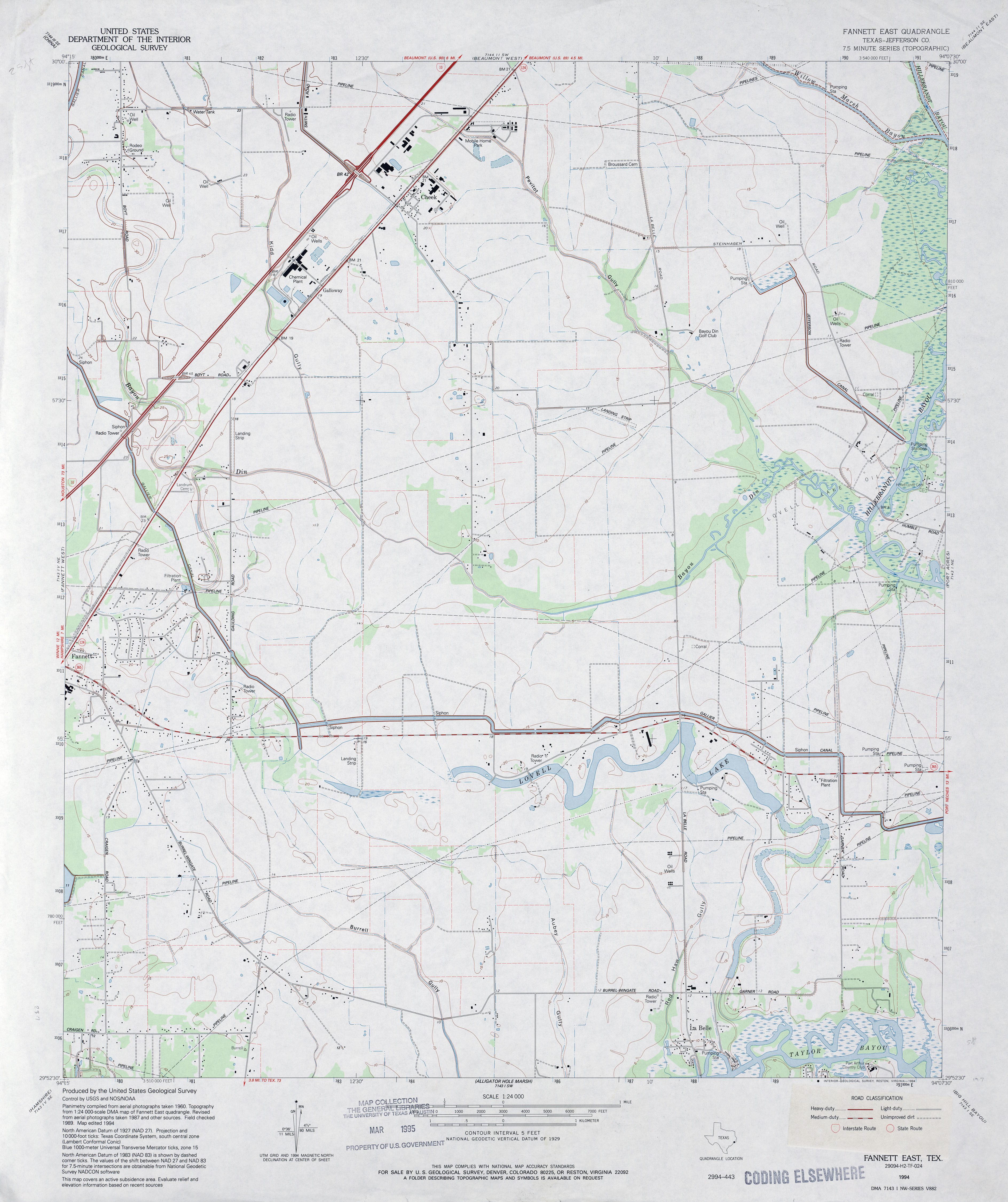 Texas topographic maps perry castaeda map collection ut fannett east jefferson county buycottarizona Image collections