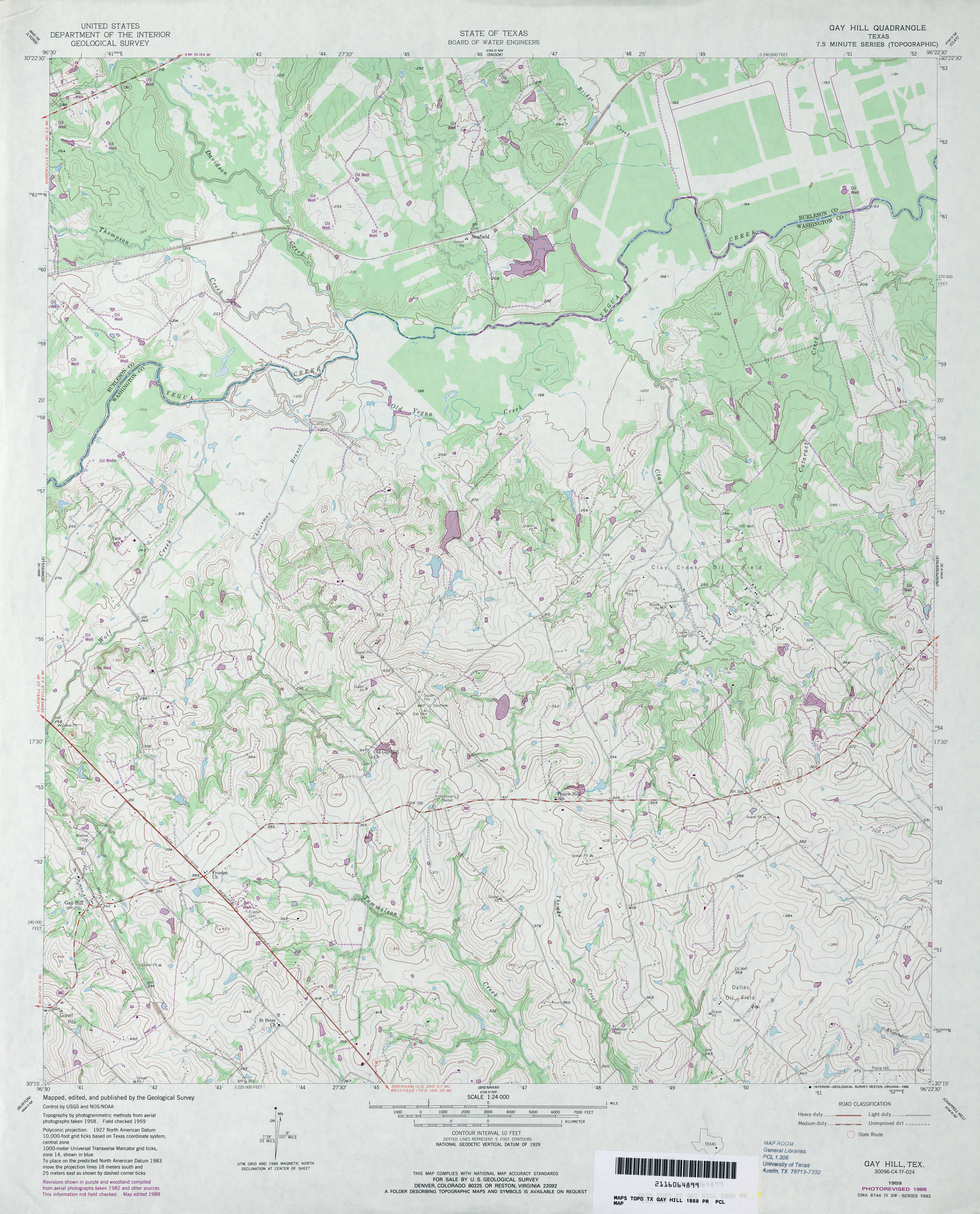 texas topographic maps perry castañeda map collection ut gay hill