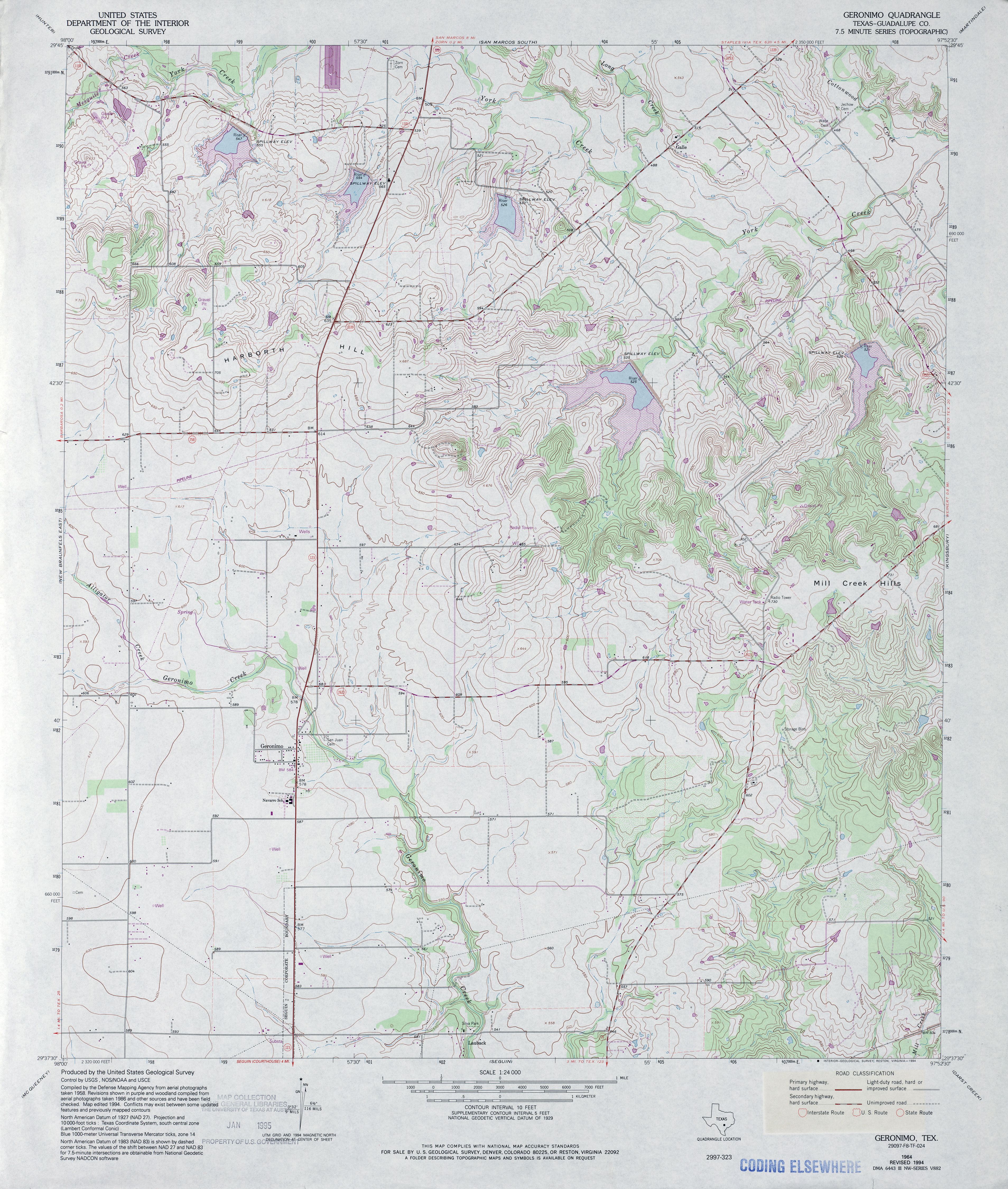 Texas Topographic Maps PerryCastañeda Map Collection UT - Where was geronimo on a us map