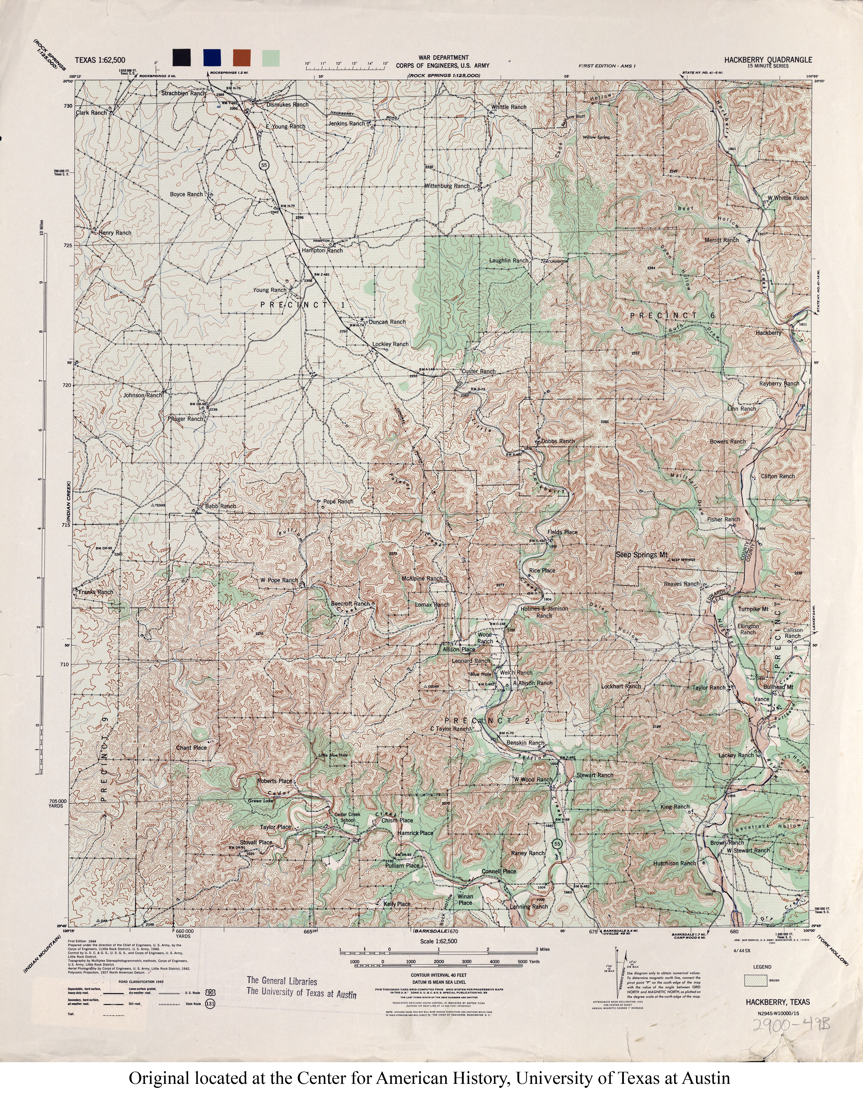 Texas Topographic Maps Perry Castaneda Map Collection Ut Library - Us-corps-of-engineers-maps