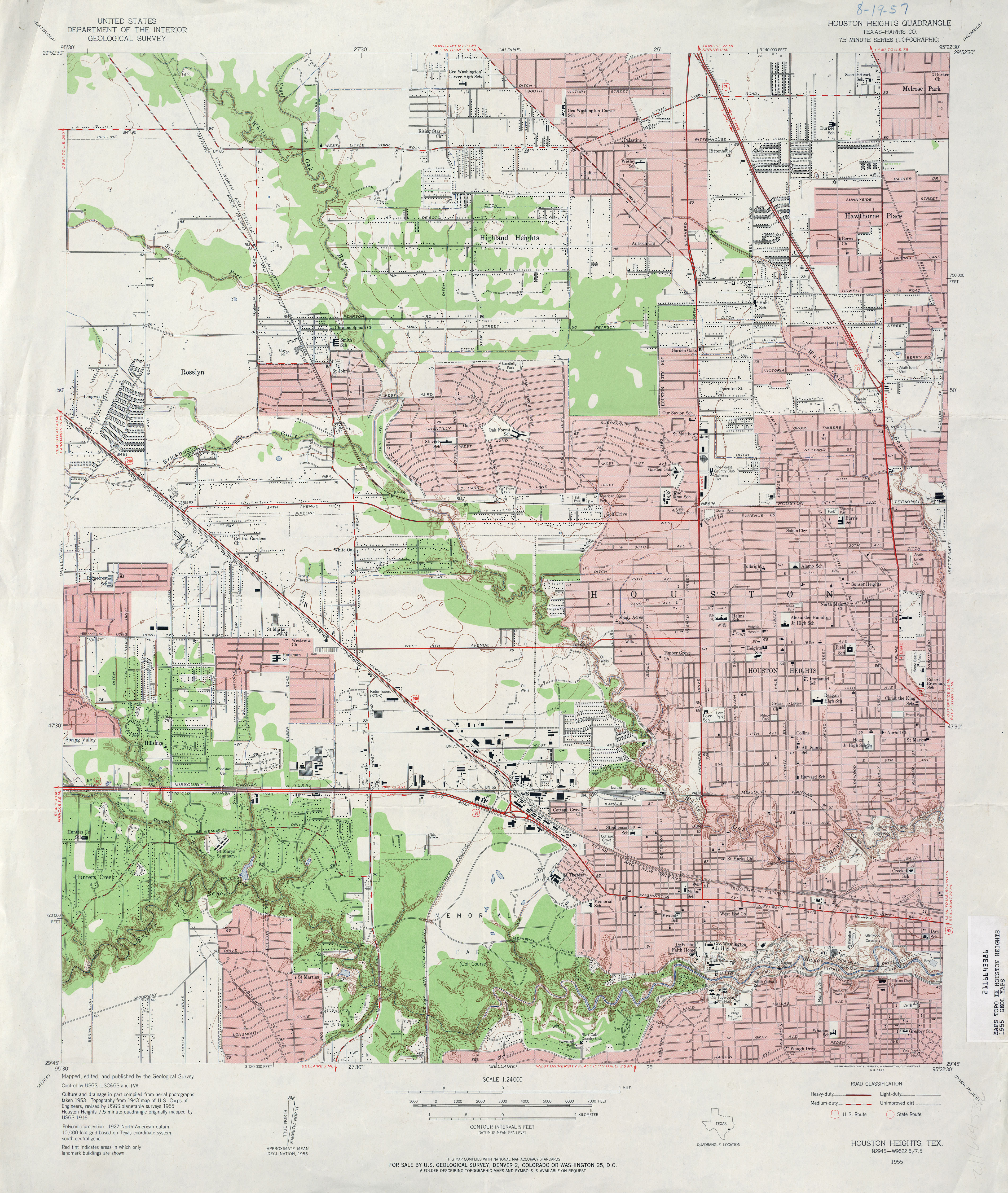 topographic map of houston Old Houston Maps Houston Past