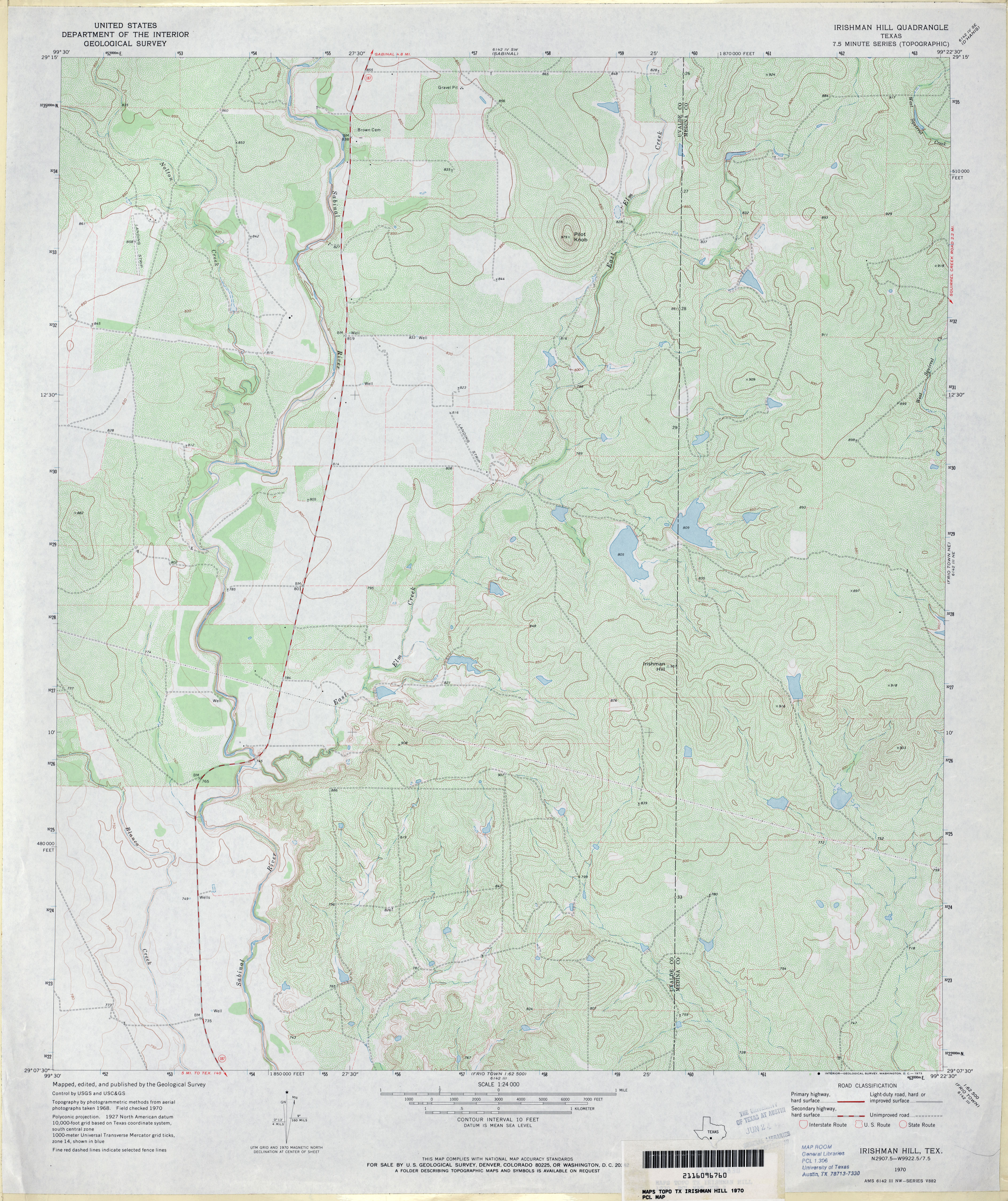 texas topographic maps perry castañeda map collection ut irishman hill