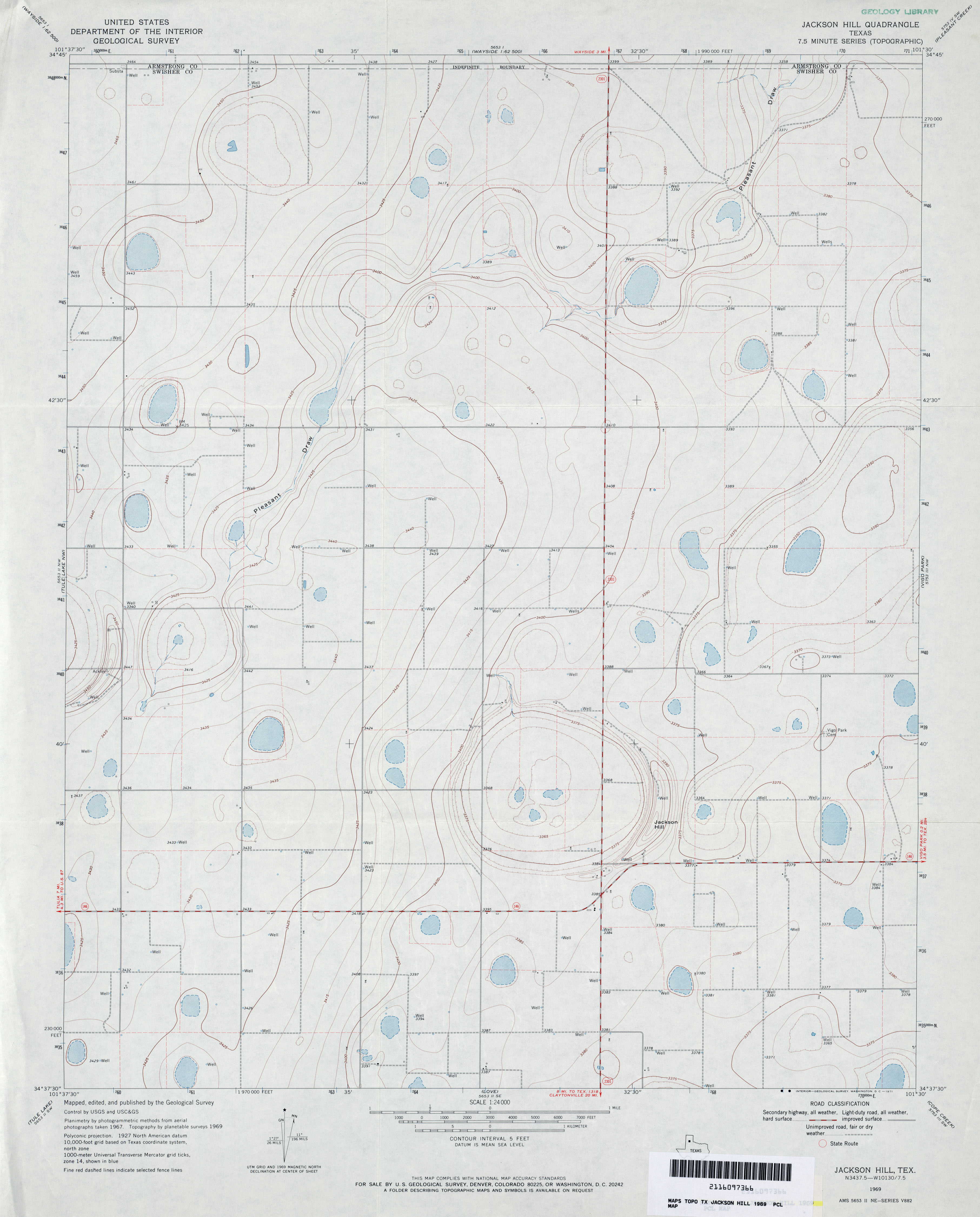 texas topographic maps perry castañeda map collection ut jackson hill