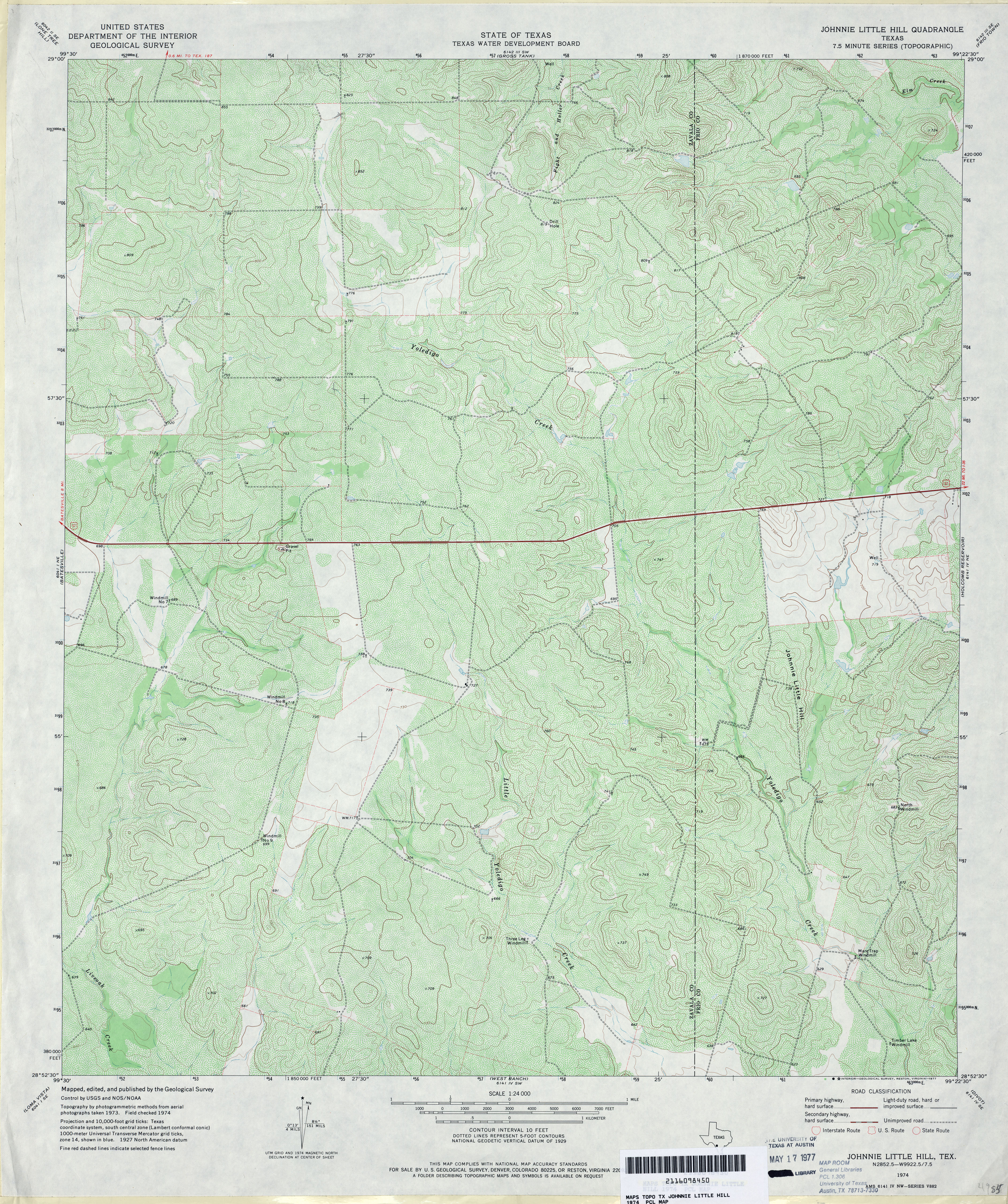 texas topographic maps perry castañeda map collection ut johnnie little hill