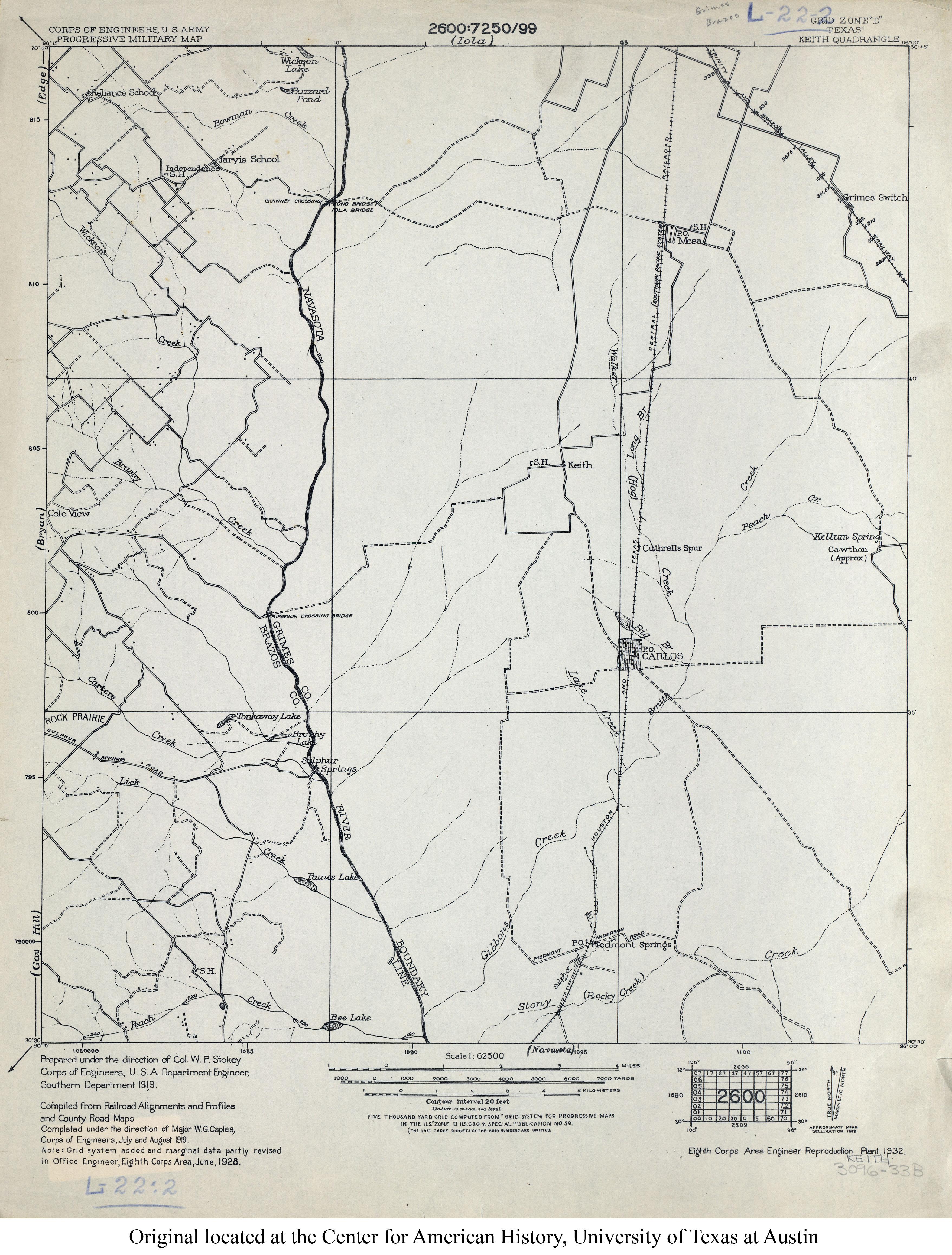 1928 2 7mb U S Army Corps Of Engineers Progressive Military Map
