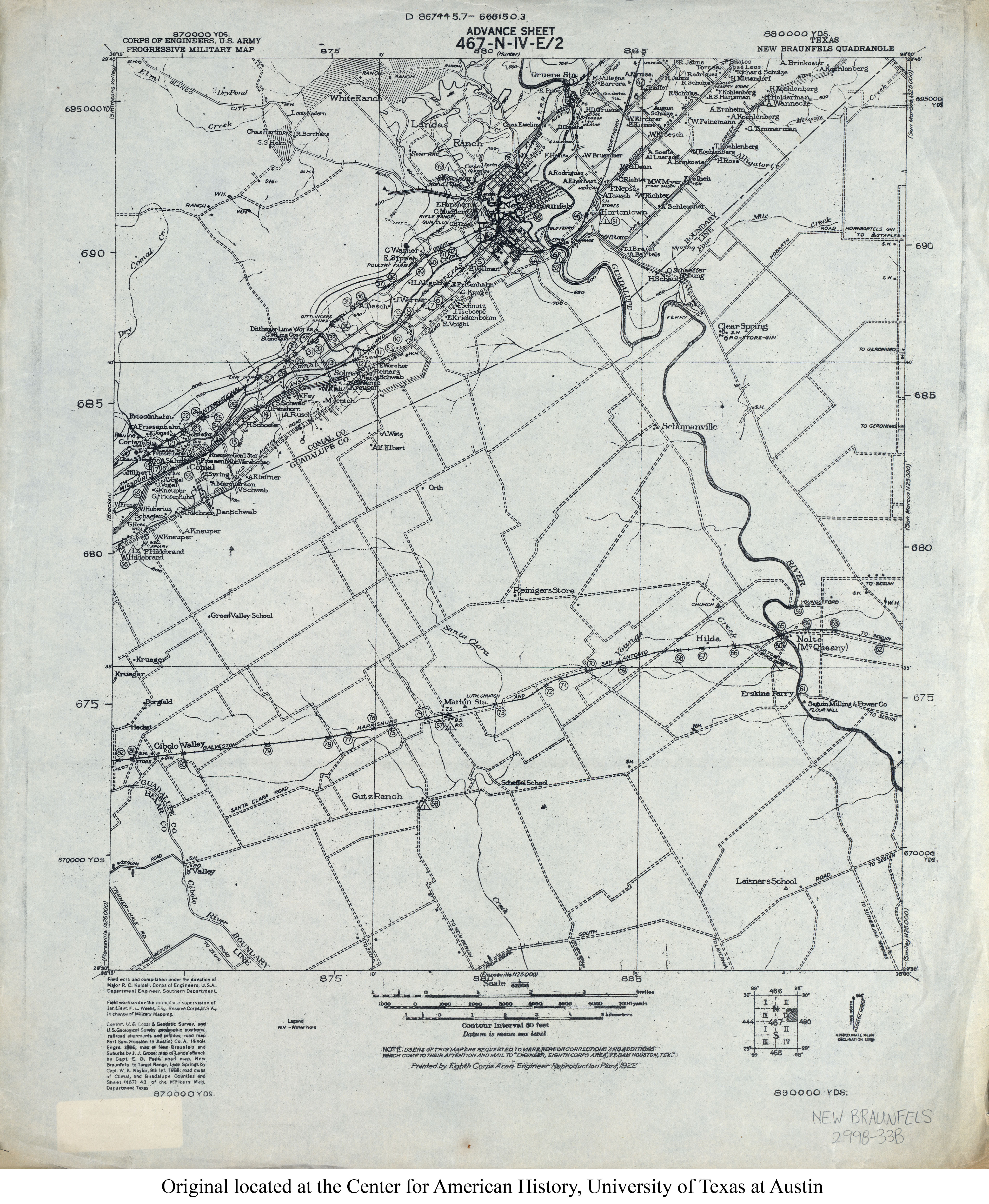Texas Topographic Maps PerryCastañeda Map Collection UT - Map of us 87