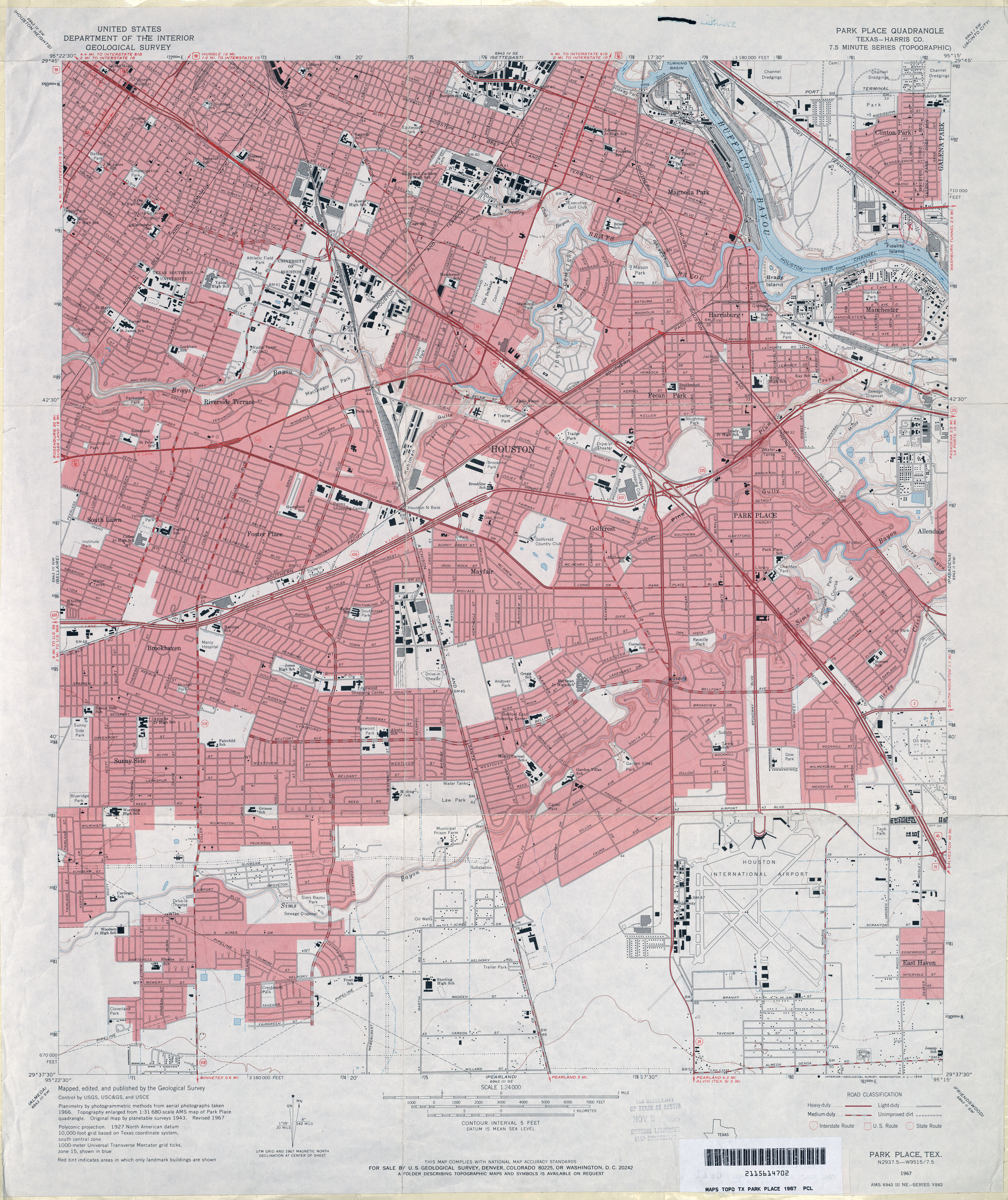 Old Houston Maps Houston Past - Us topographic road map