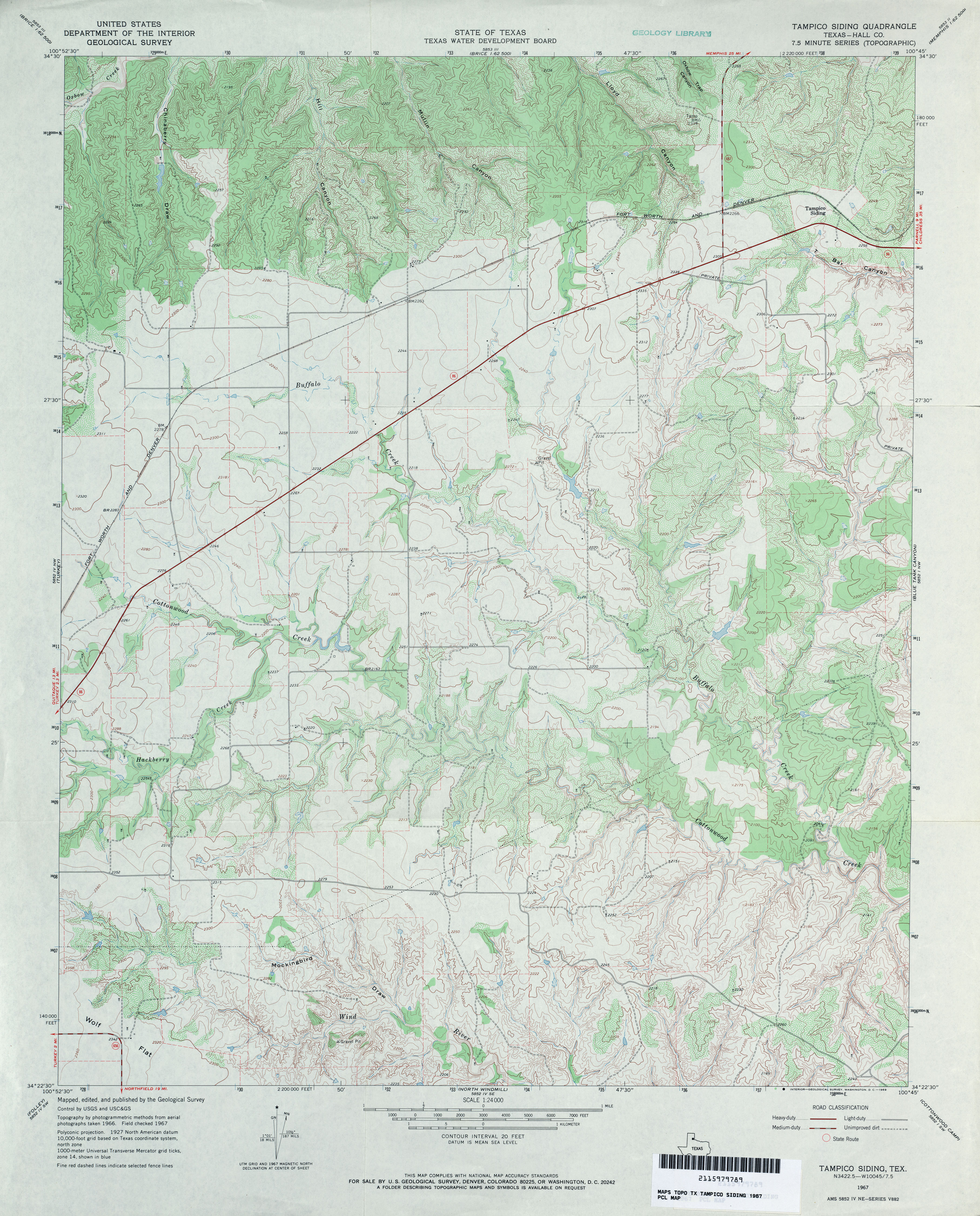 Texas Topographic Maps PerryCastaeda Map Collection UT Library