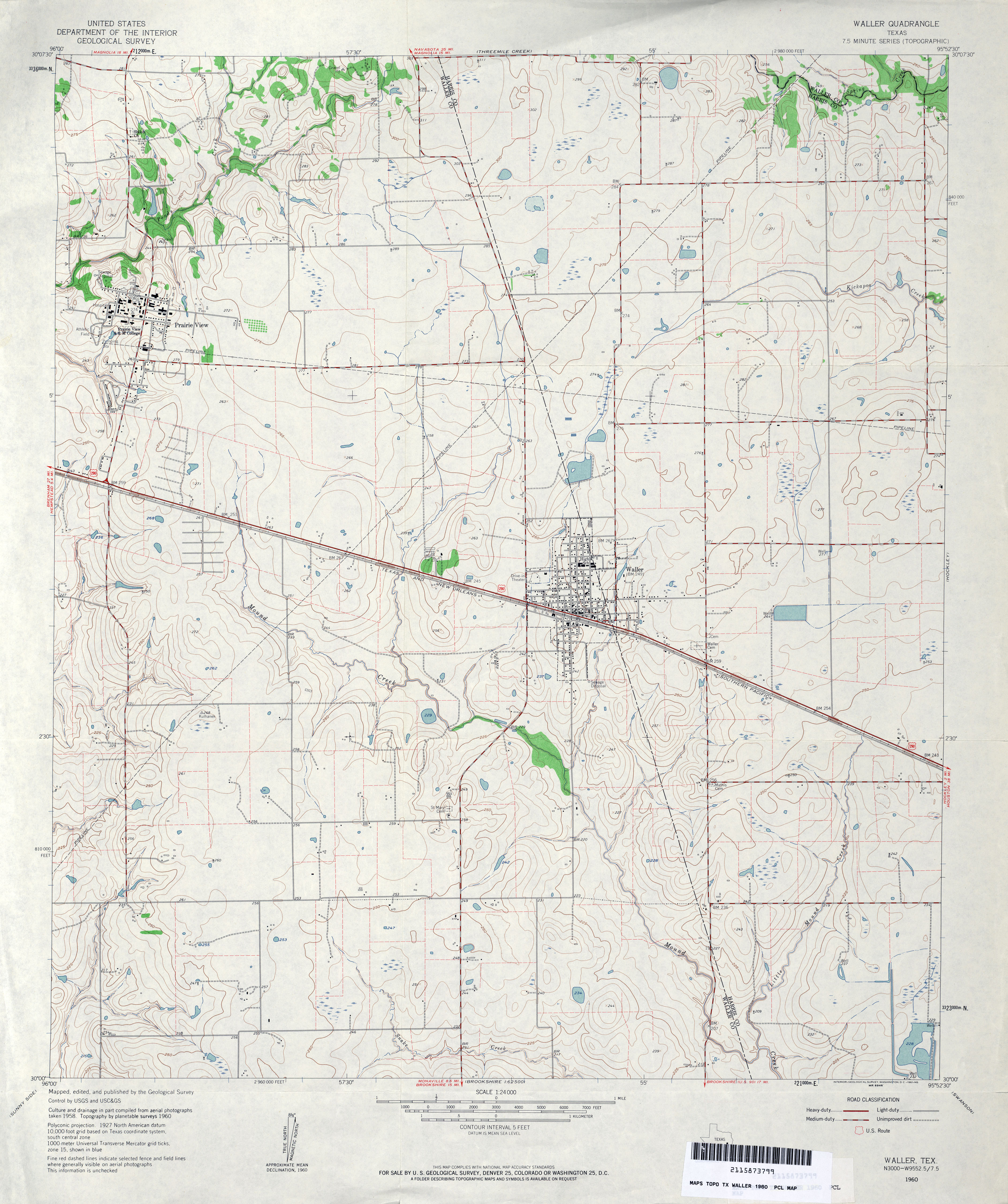 Texas Topographic Maps PerryCastañeda Map Collection UT - Waller tx map us