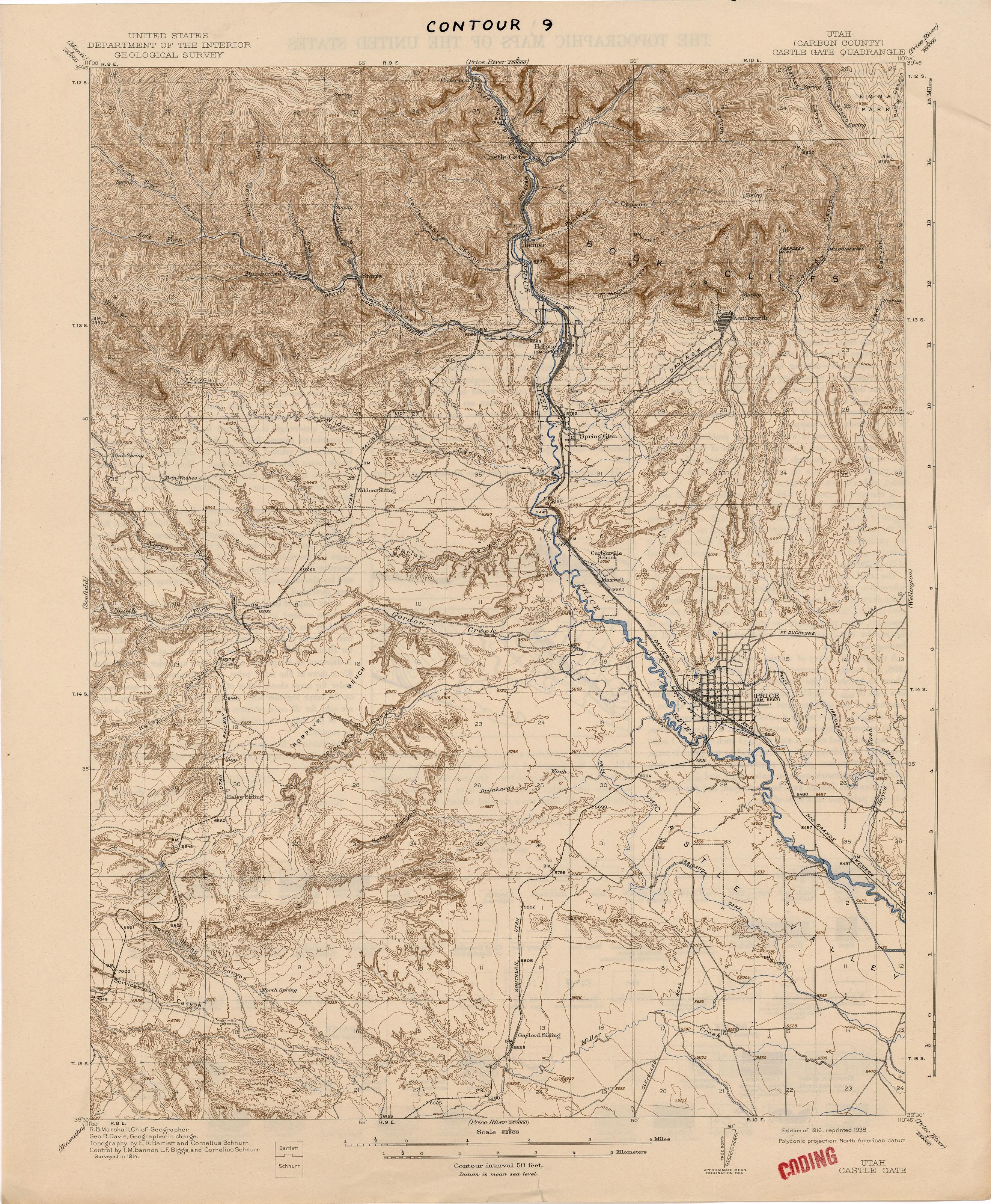 Utah Historical Topographic Maps - Perry-Castañeda Map ...