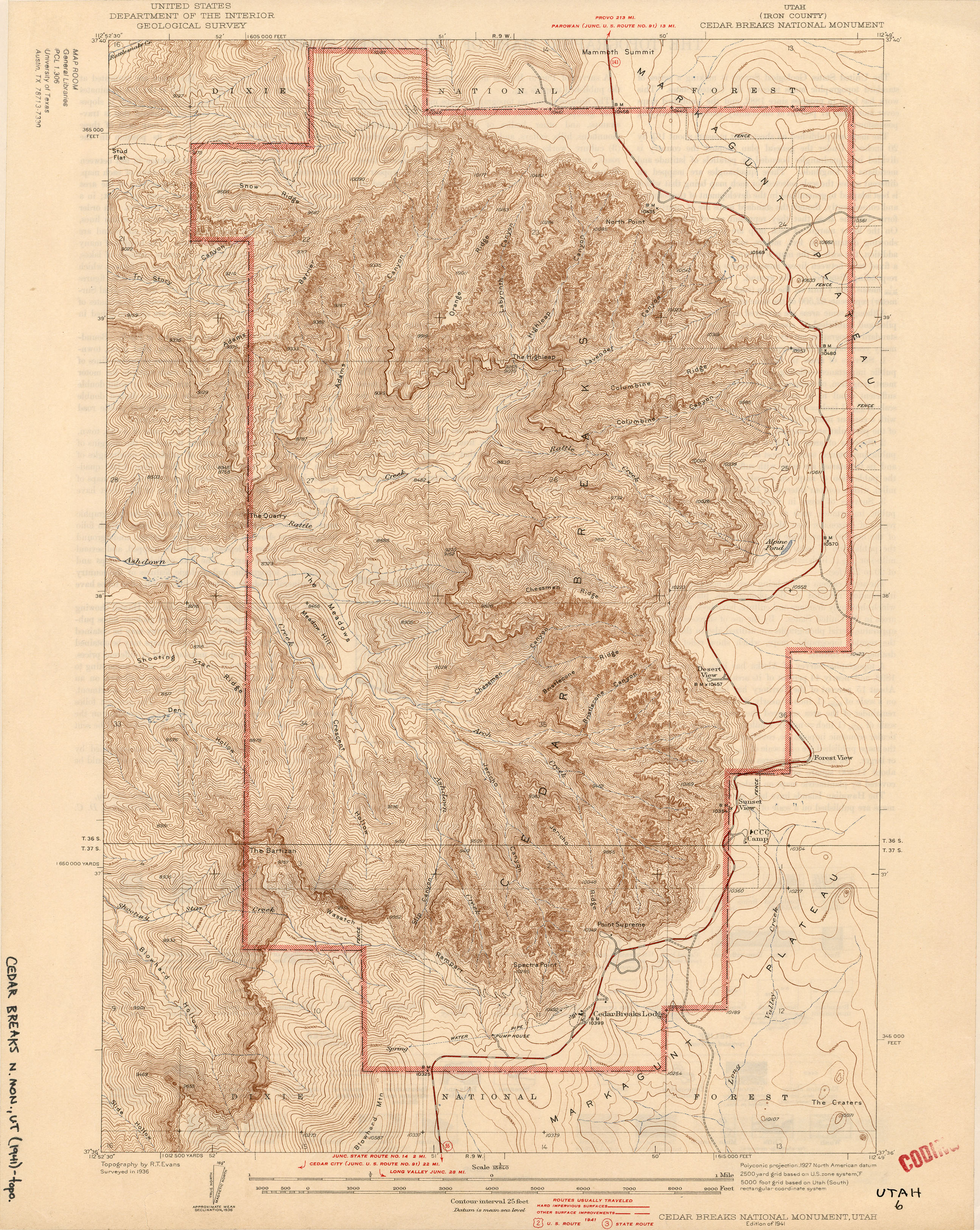 Topographical Map Of Utah Utah Historical Topographic Maps   Perry Castañeda Map Collection  Topographical Map Of Utah