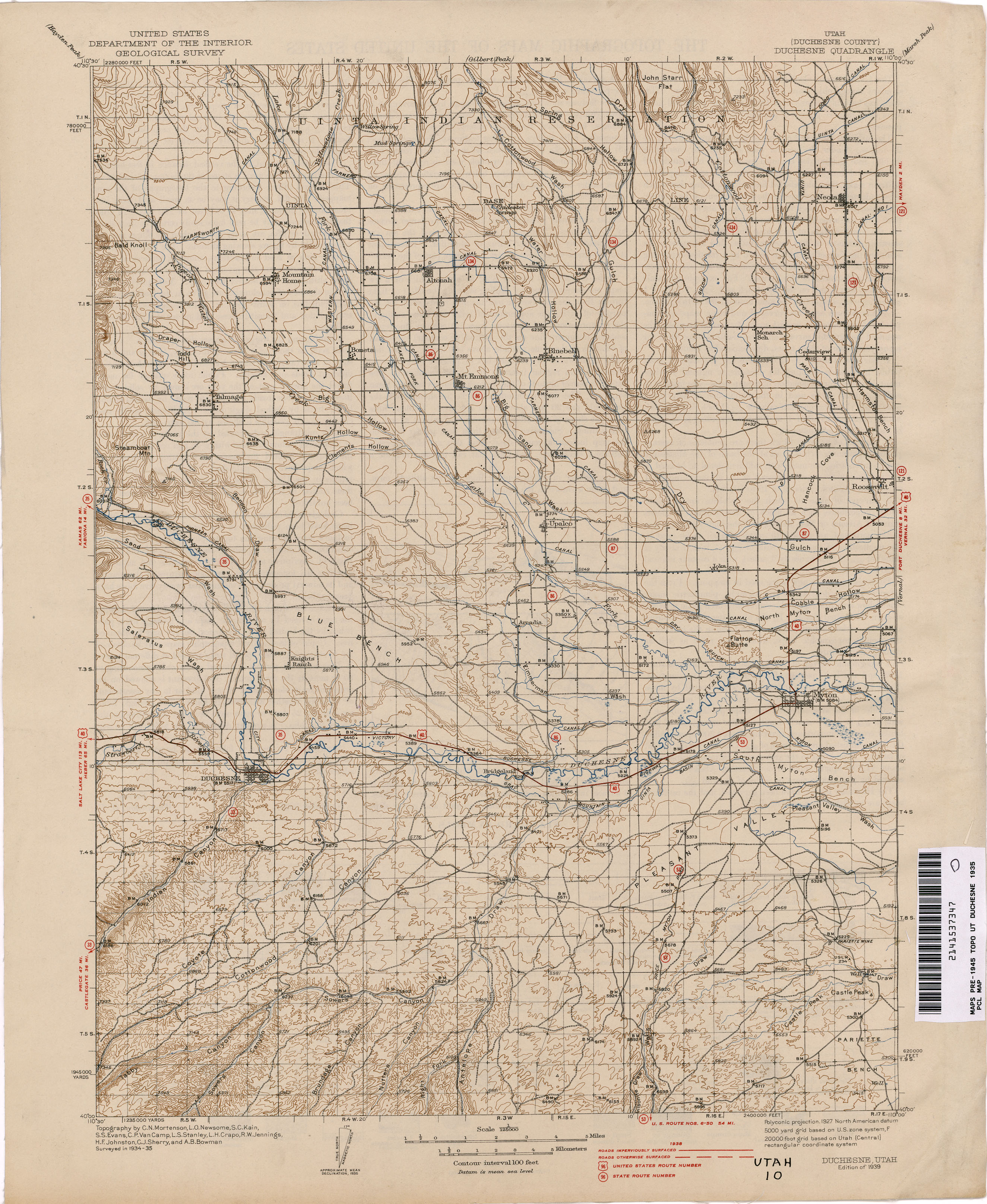 Utah Historical Topographic Maps - Perry-Castañeda Map Collection on
