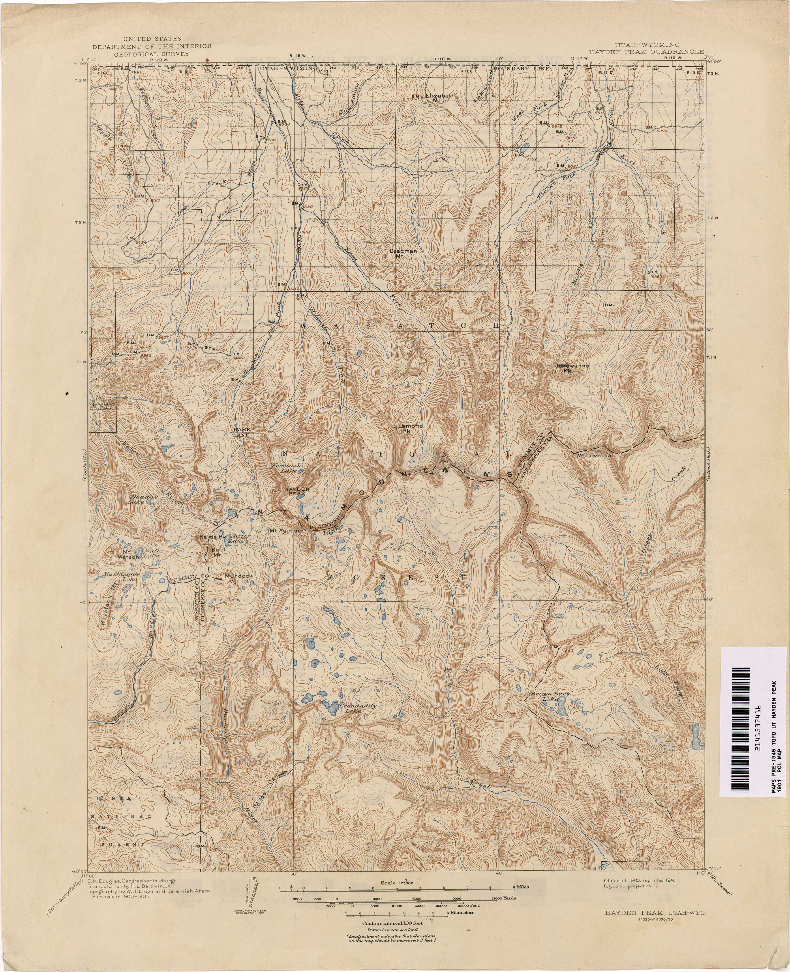 Utah Historical Topographic Maps PerryCastañeda Map Collection - Utah maps